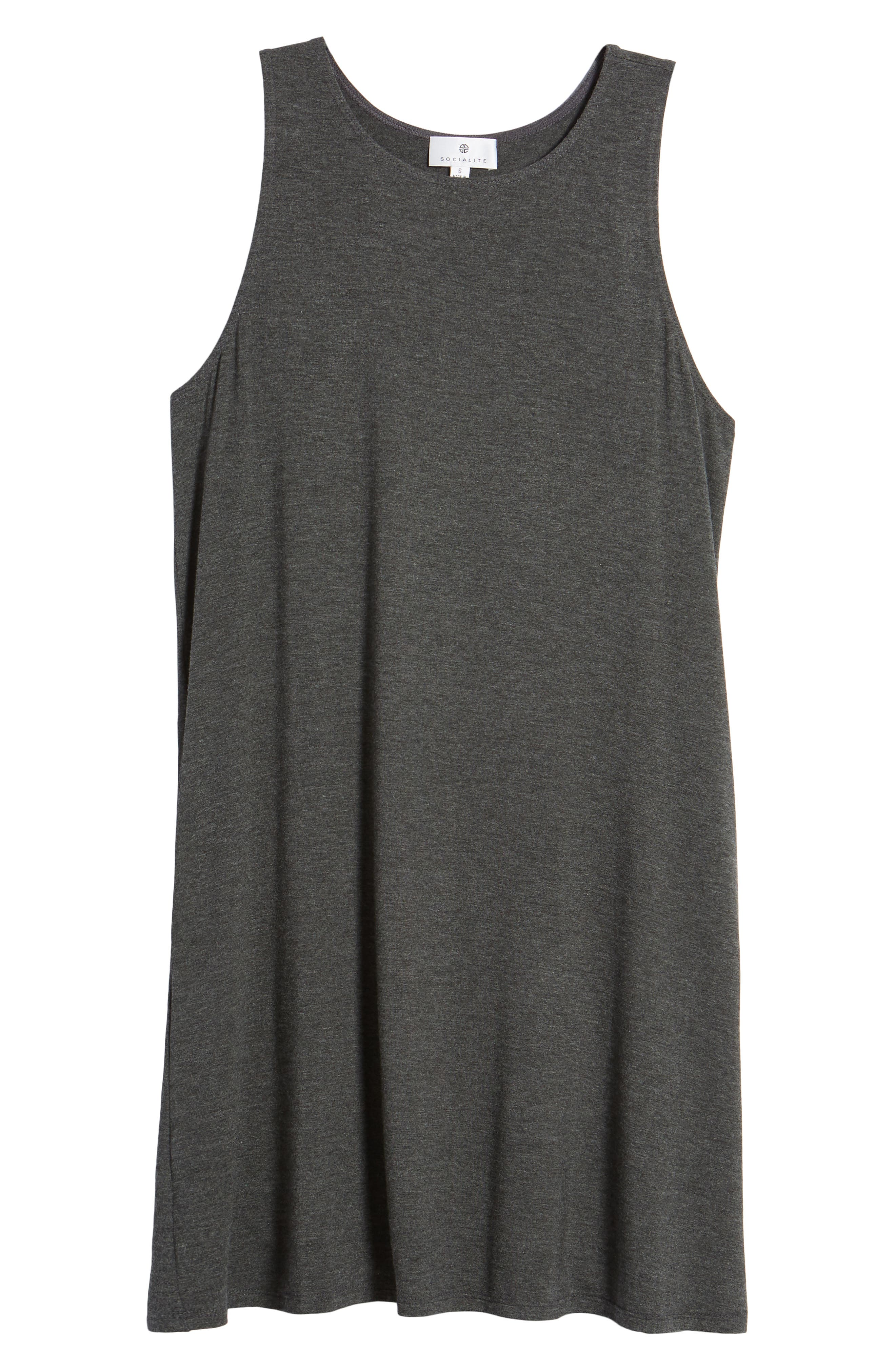 Pocket Tank Dress,                             Alternate thumbnail 7, color,                             Dark Charcoal