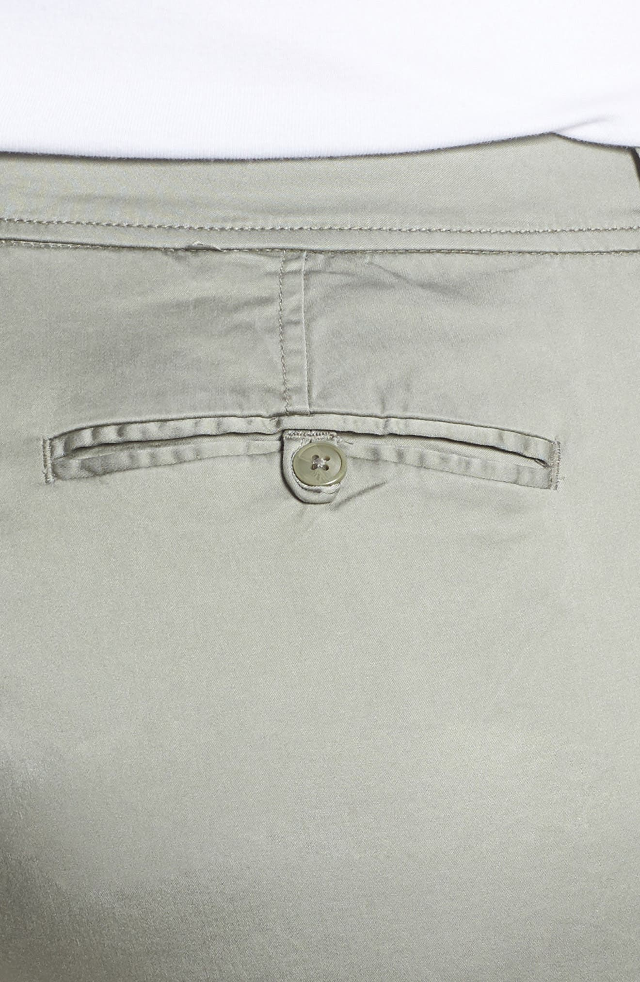 Stretch Cotton Blend Pants,                             Alternate thumbnail 4, color,                             Faded Seagrass