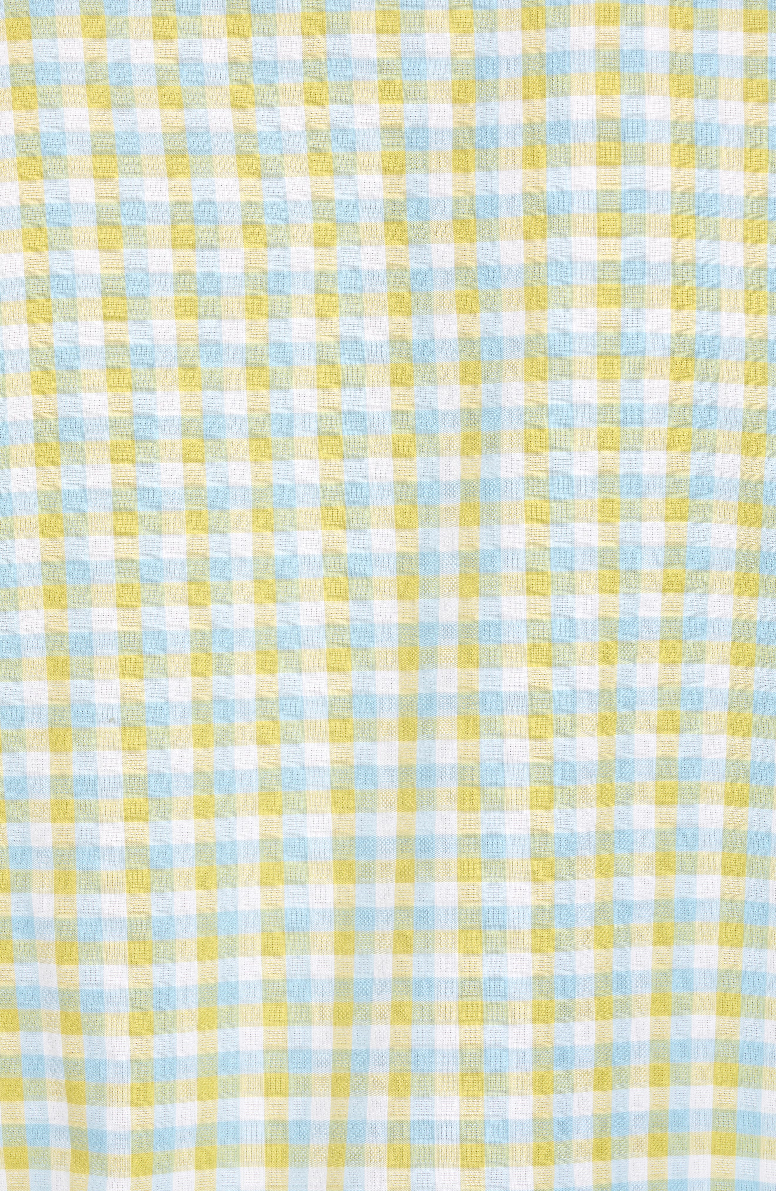 Regular Fit Check Sport Shirt,                             Alternate thumbnail 5, color,                             Yellow