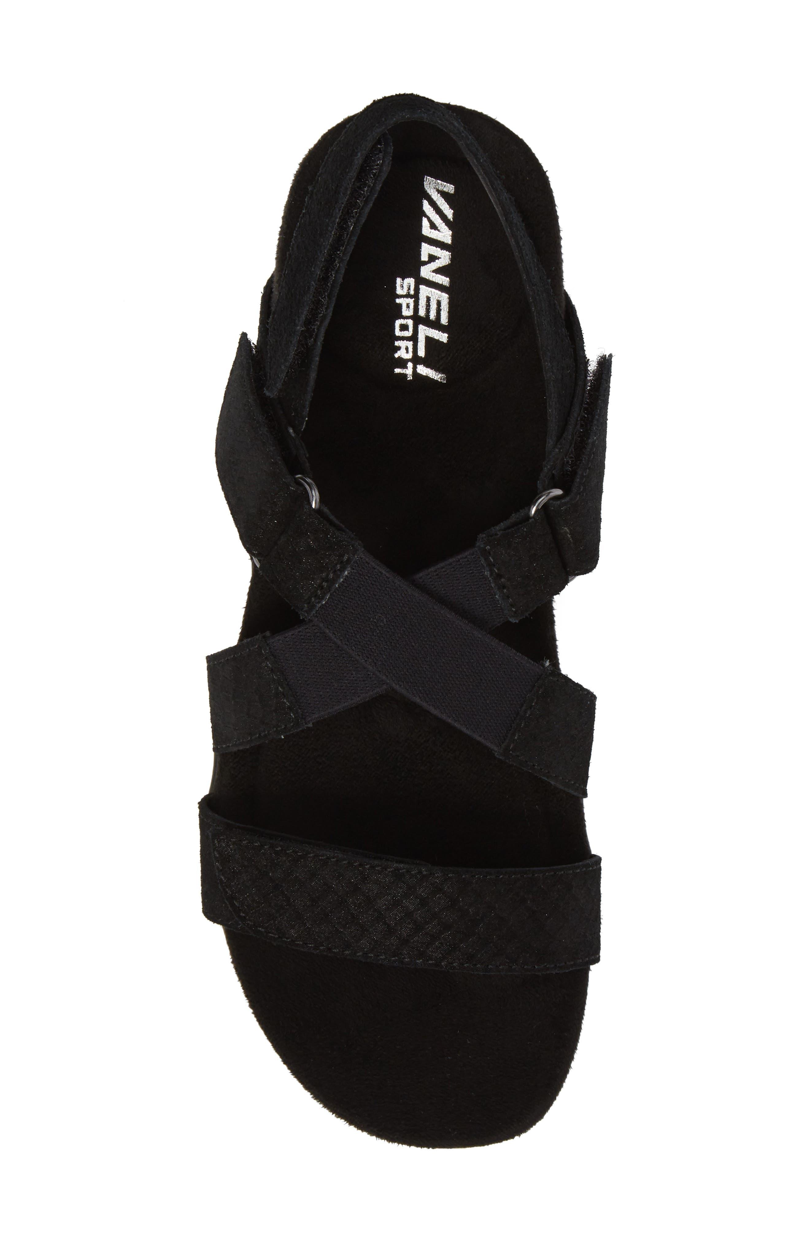 Vicki Slingback Sandal,                             Alternate thumbnail 5, color,                             Black Printed Leather