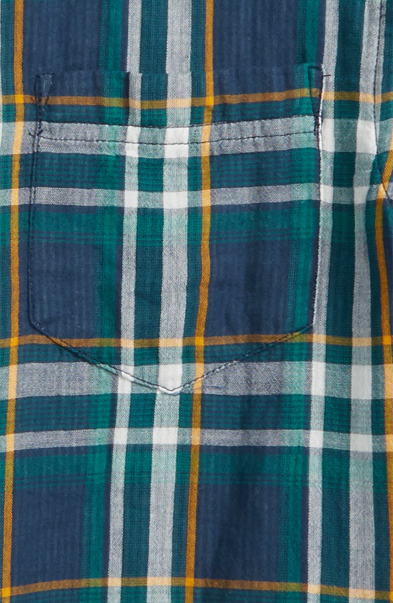 Plaid Woven Shirt,                             Alternate thumbnail 2, color,                             Navy Denim Multi Plaid