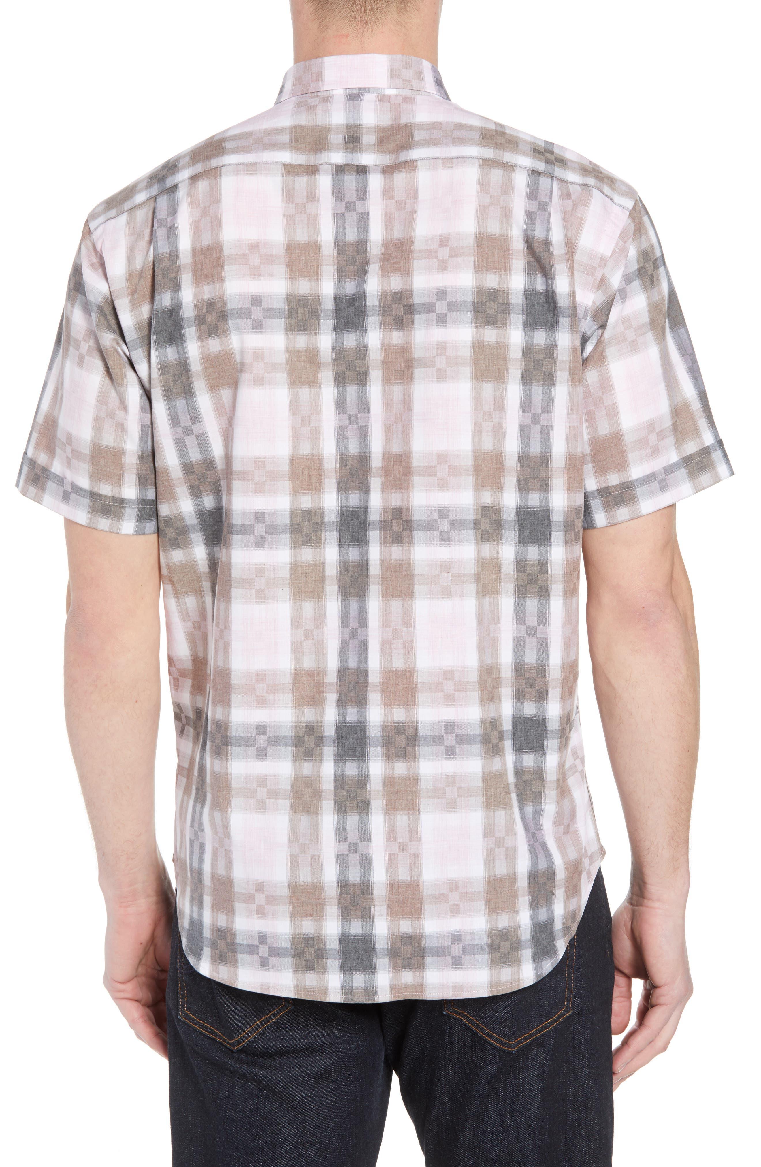 Regular Fit Check Sport Shirt,                             Alternate thumbnail 2, color,                             Pink