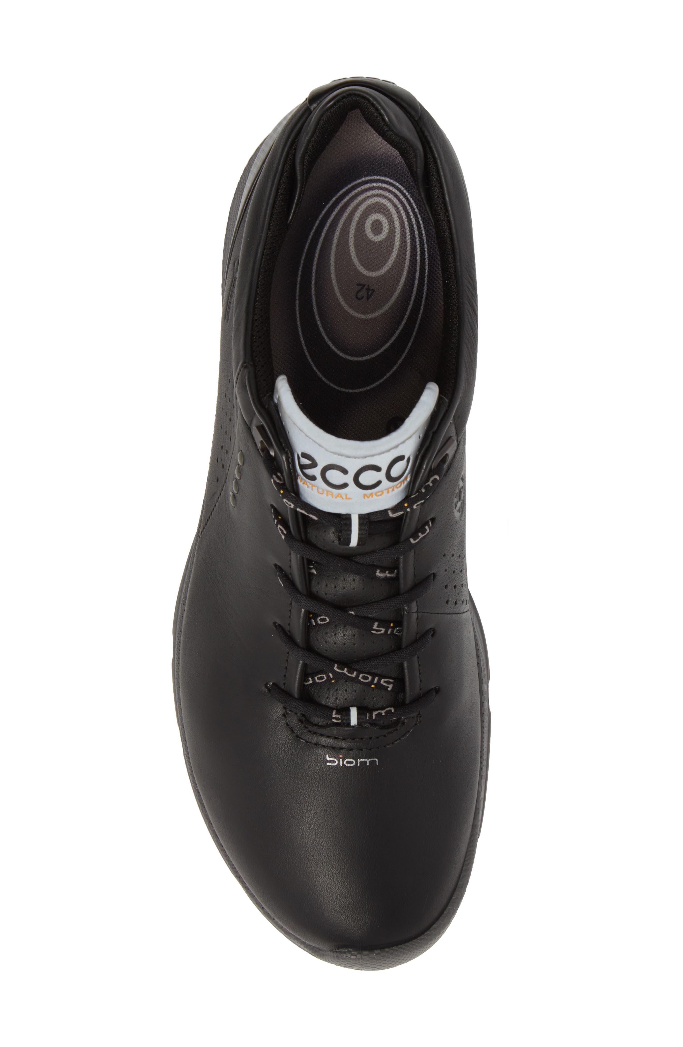 BIOM G 2 Free Gore-Tex<sup>®</sup> Golf Shoe,                             Alternate thumbnail 5, color,                             Black Leather