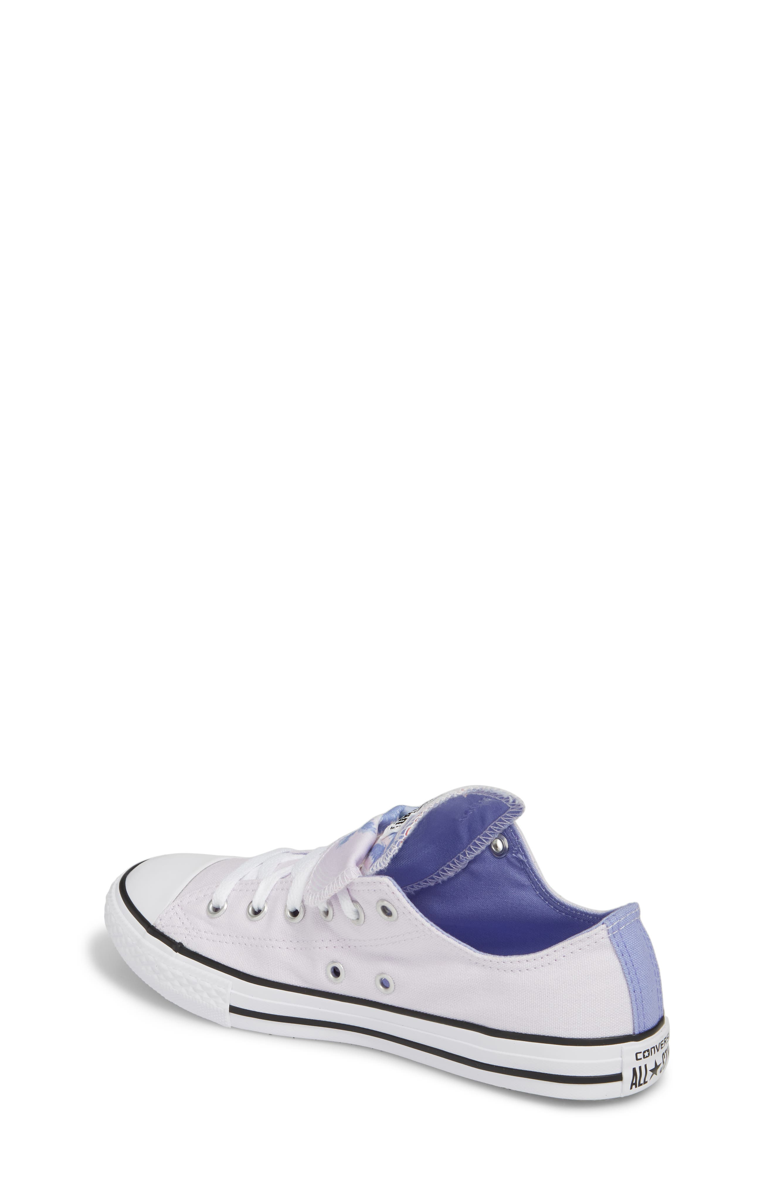 Chuck Taylor<sup>®</sup> All Star<sup>®</sup> Palm Tree Double Tongue Low Top Sneaker,                             Alternate thumbnail 2, color,                             Barely Grape