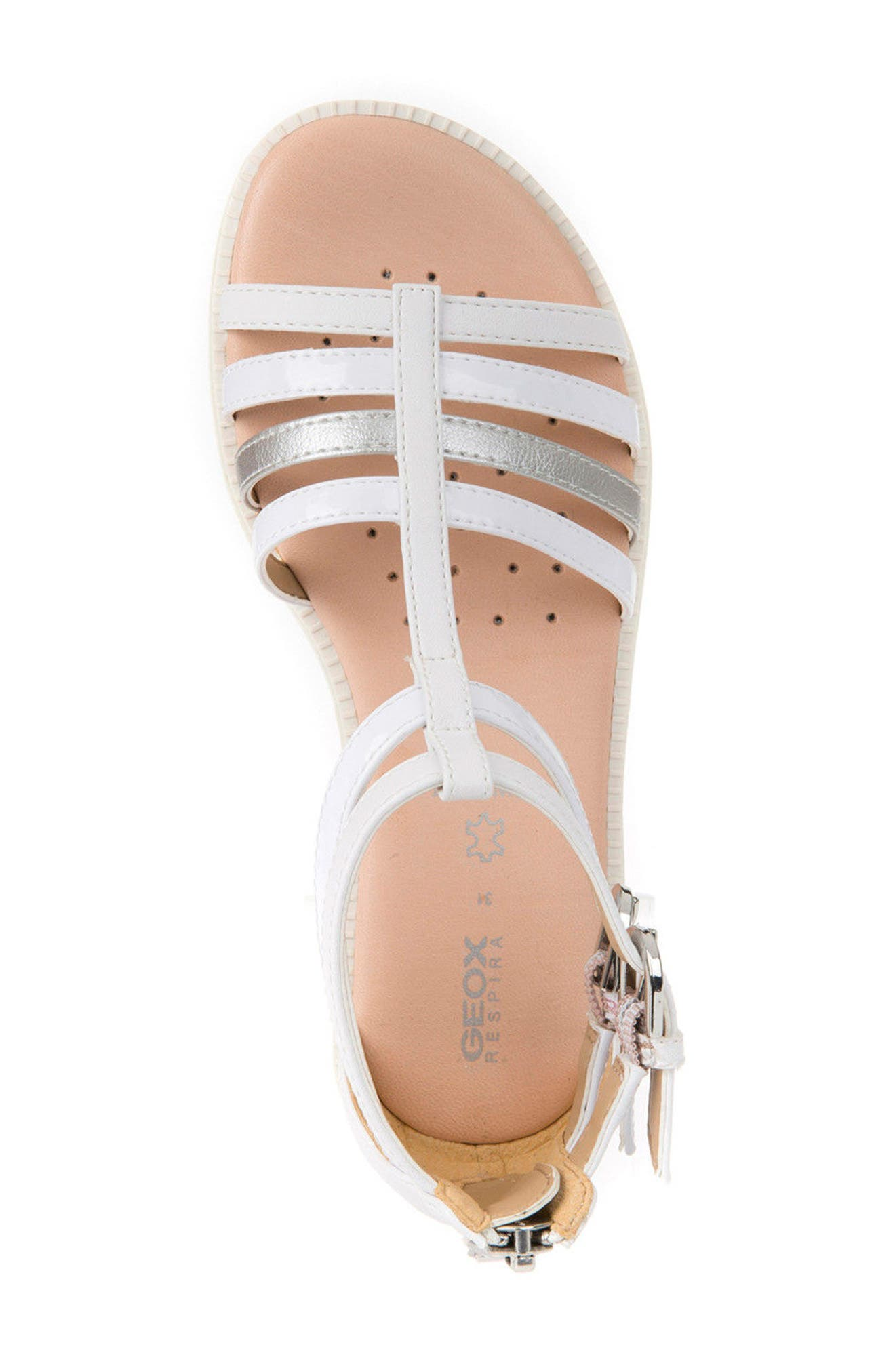 Karly Sandal,                             Alternate thumbnail 5, color,                             White