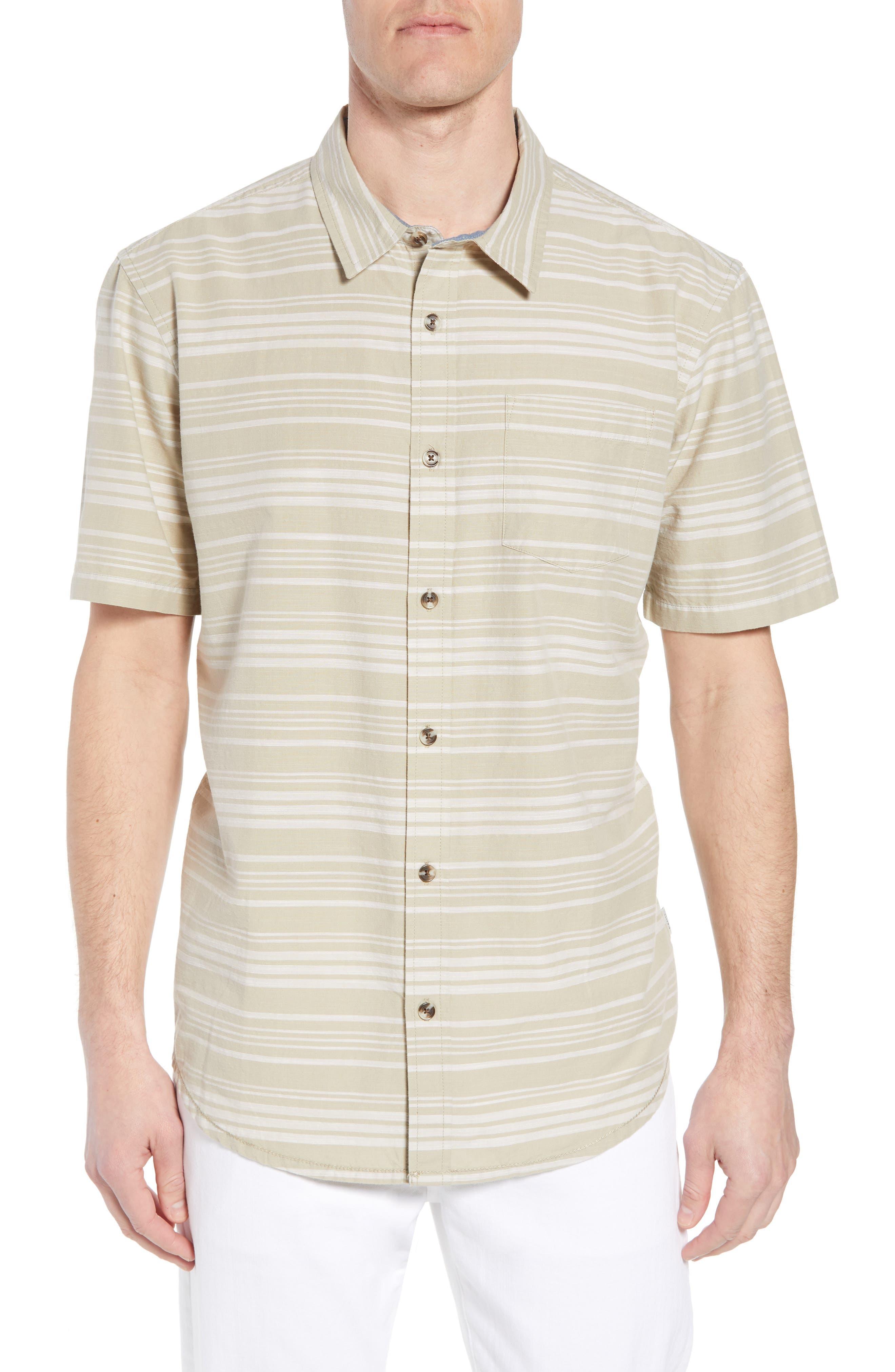 Line Up Sport Shirt,                         Main,                         color, Khaki
