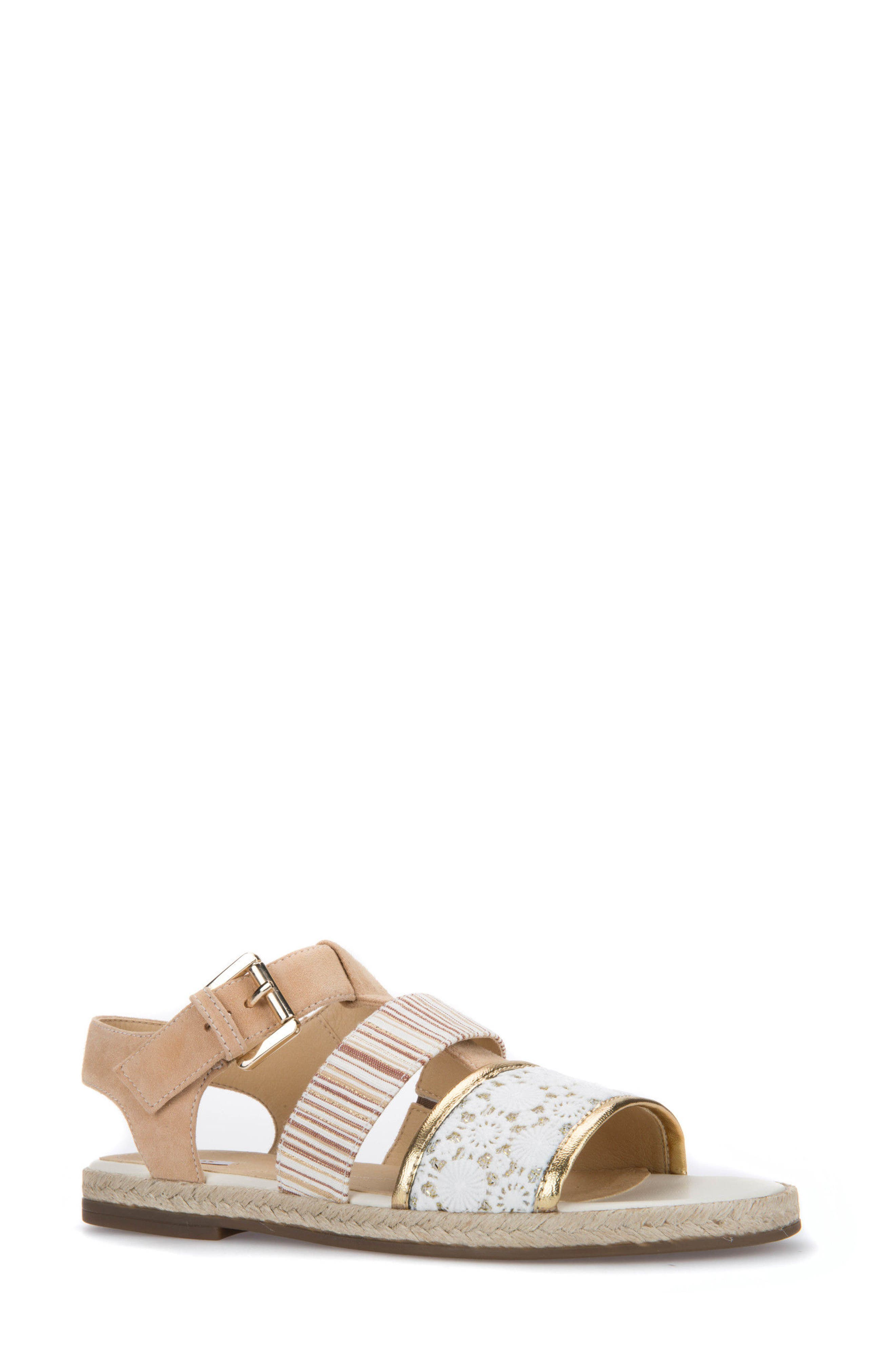 Kolleen Sandal,                         Main,                         color, Natural/ Off White