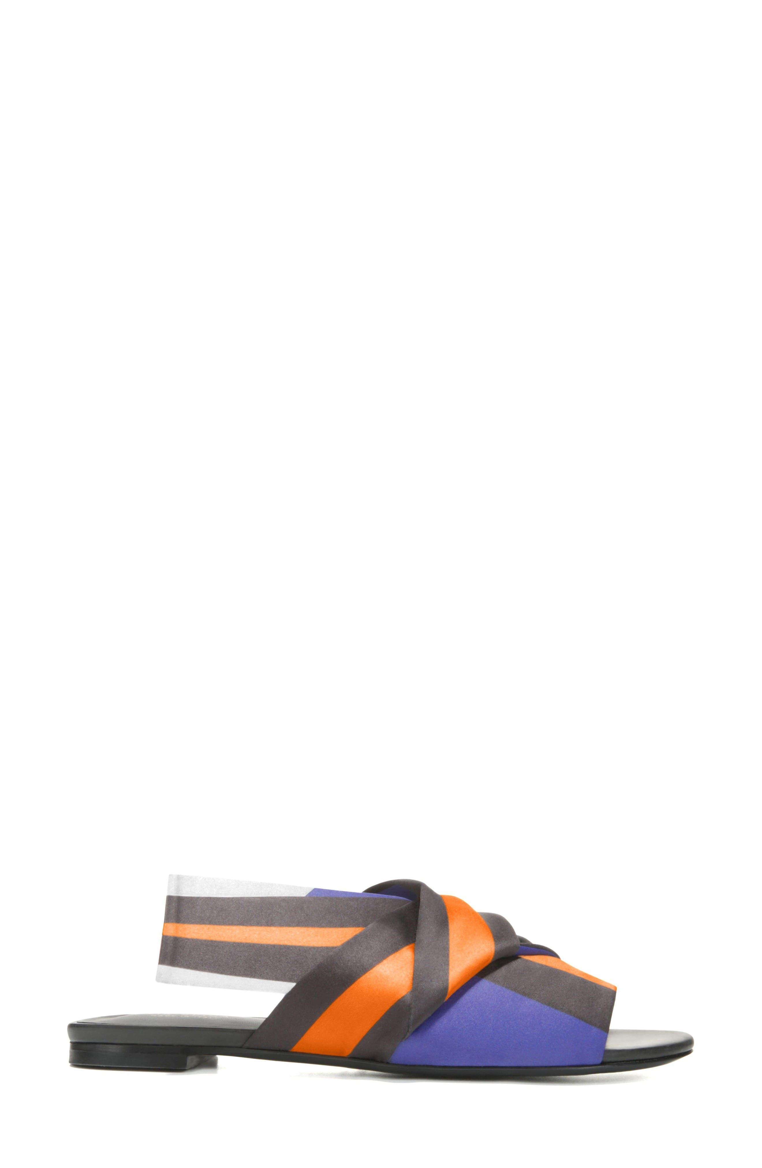 Halina Slide Sandal,                             Alternate thumbnail 3, color,                             Sapphire/ Wine Fabric