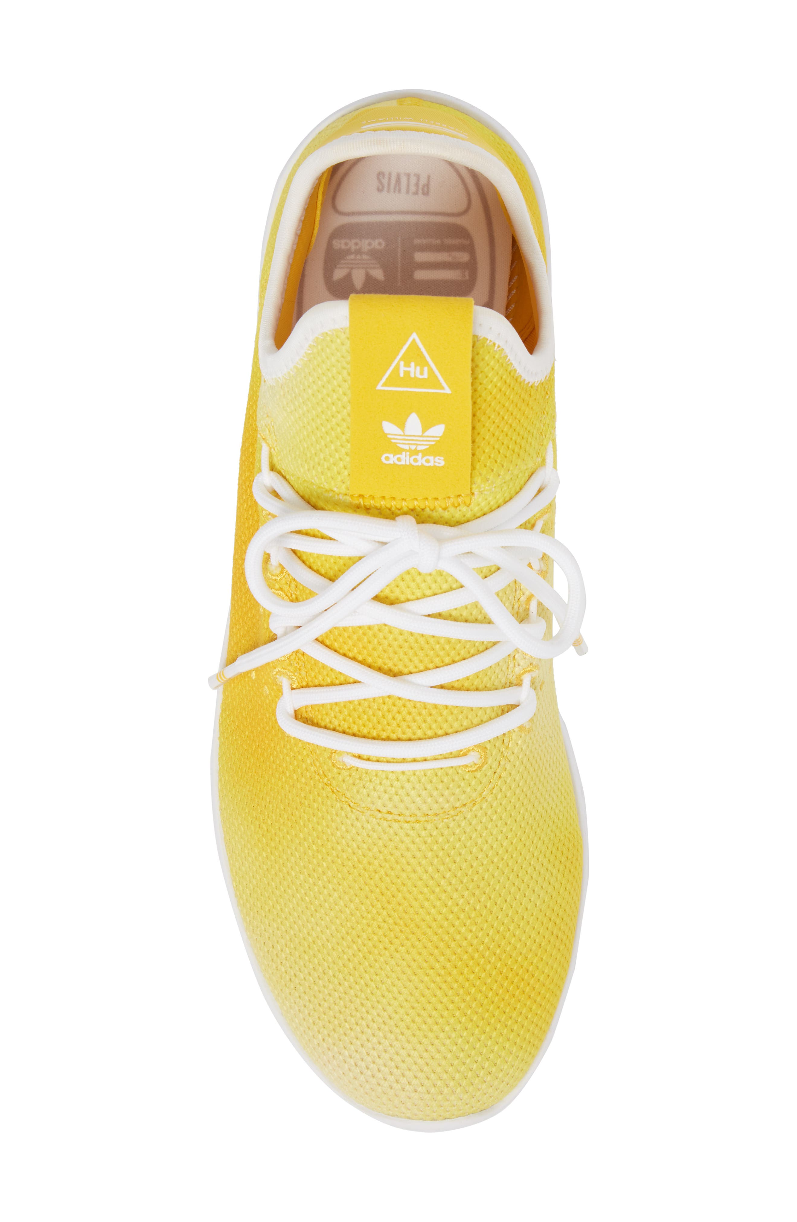 Pharrell Williams Tennis Hu Sneaker,                             Alternate thumbnail 5, color,                             Yellow/ White