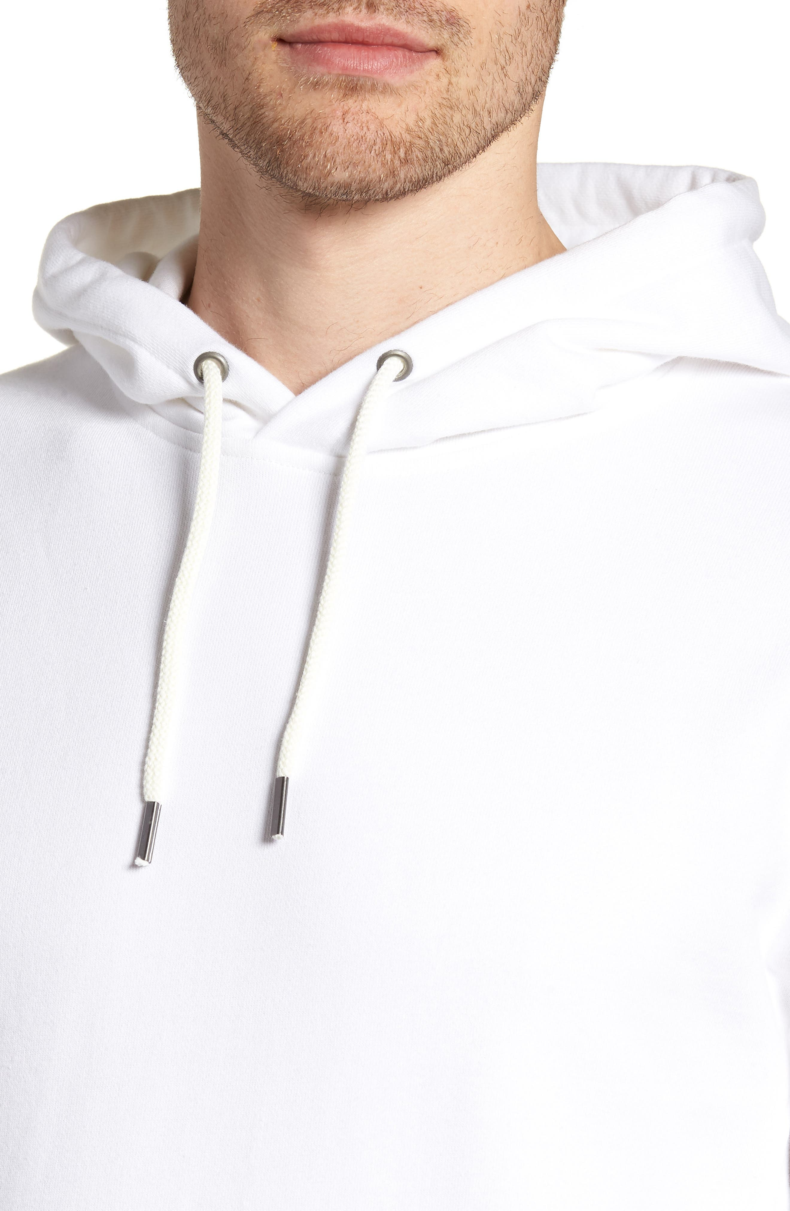 Garment Dyed French Terry Hoodie,                             Alternate thumbnail 5, color,                             White