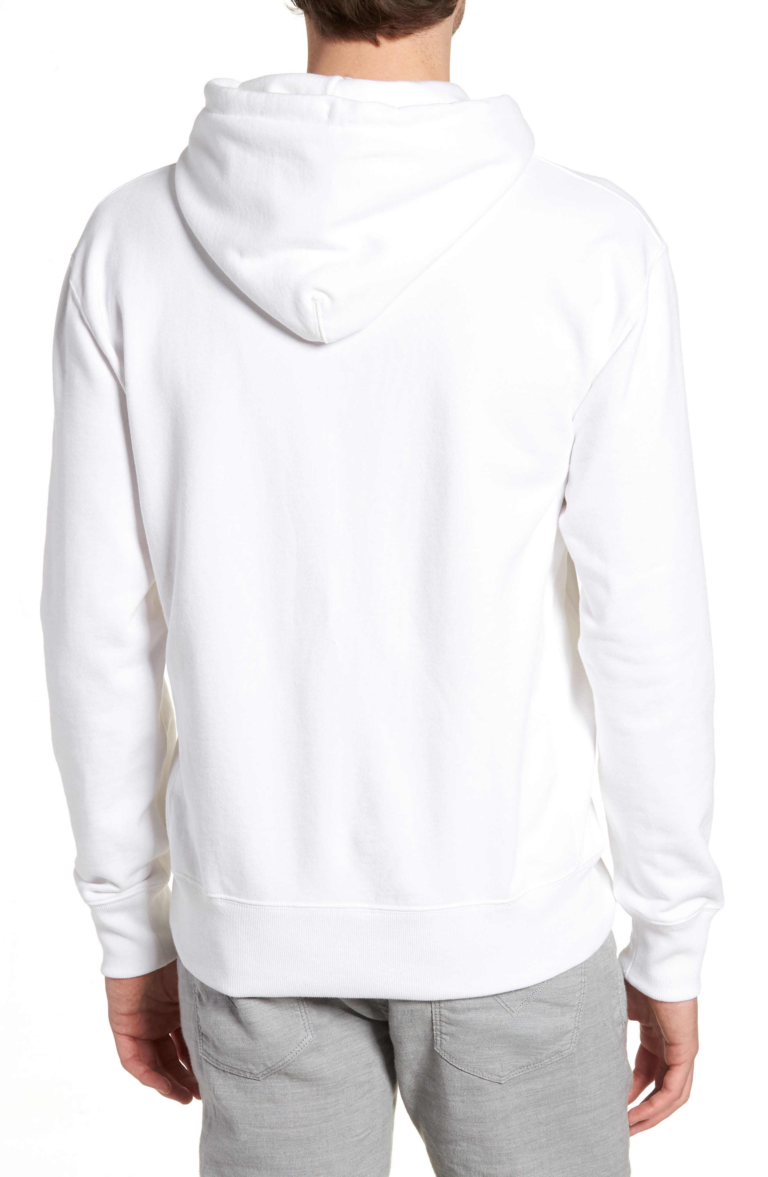 Garment Dyed French Terry Hoodie,                             Alternate thumbnail 2, color,                             White