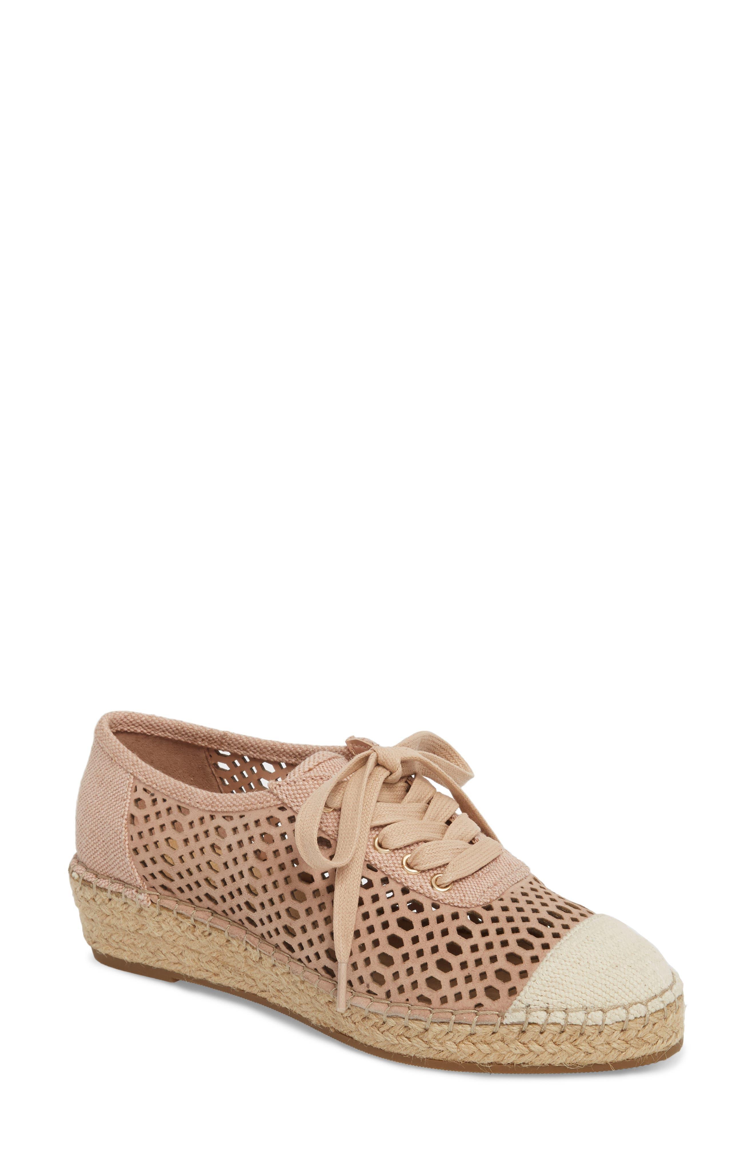 Clementine Espadrille Sneaker,                         Main,                         color, Blush Suede