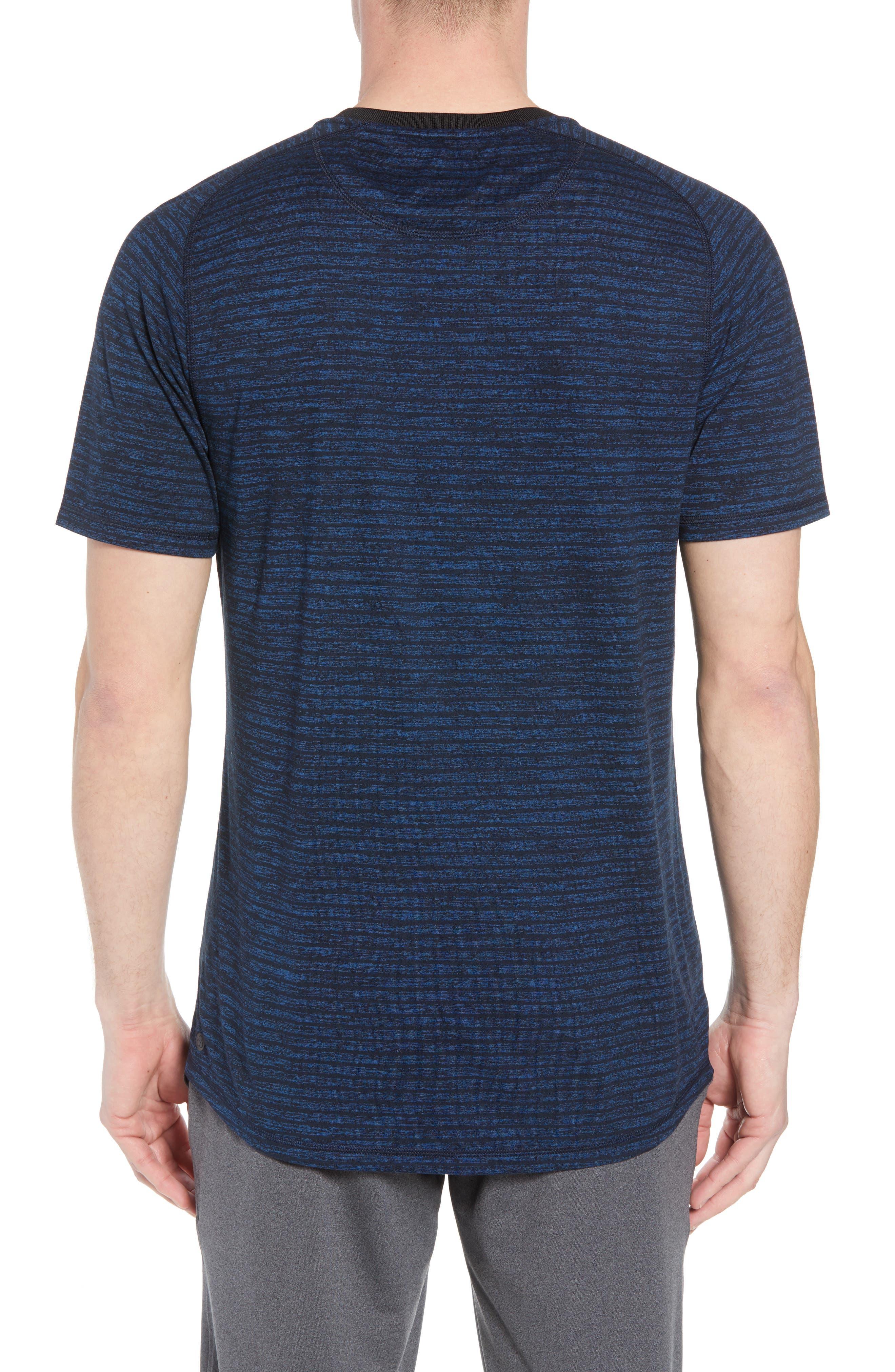Stripe Crewneck T-Shirt,                             Alternate thumbnail 2, color,                             Blue Iolite Stripe