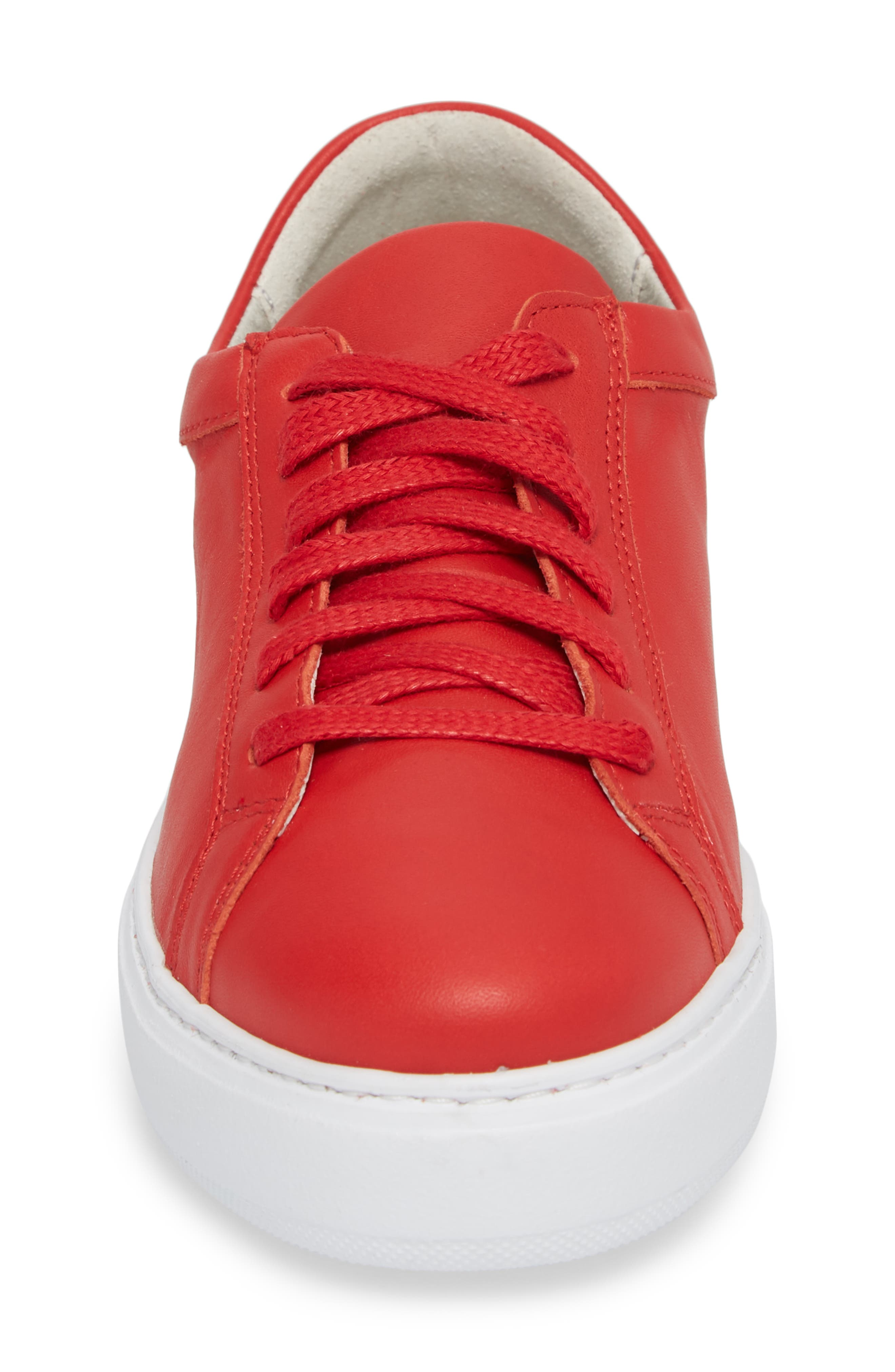 Tully Sneaker,                             Alternate thumbnail 4, color,                             Red Leather