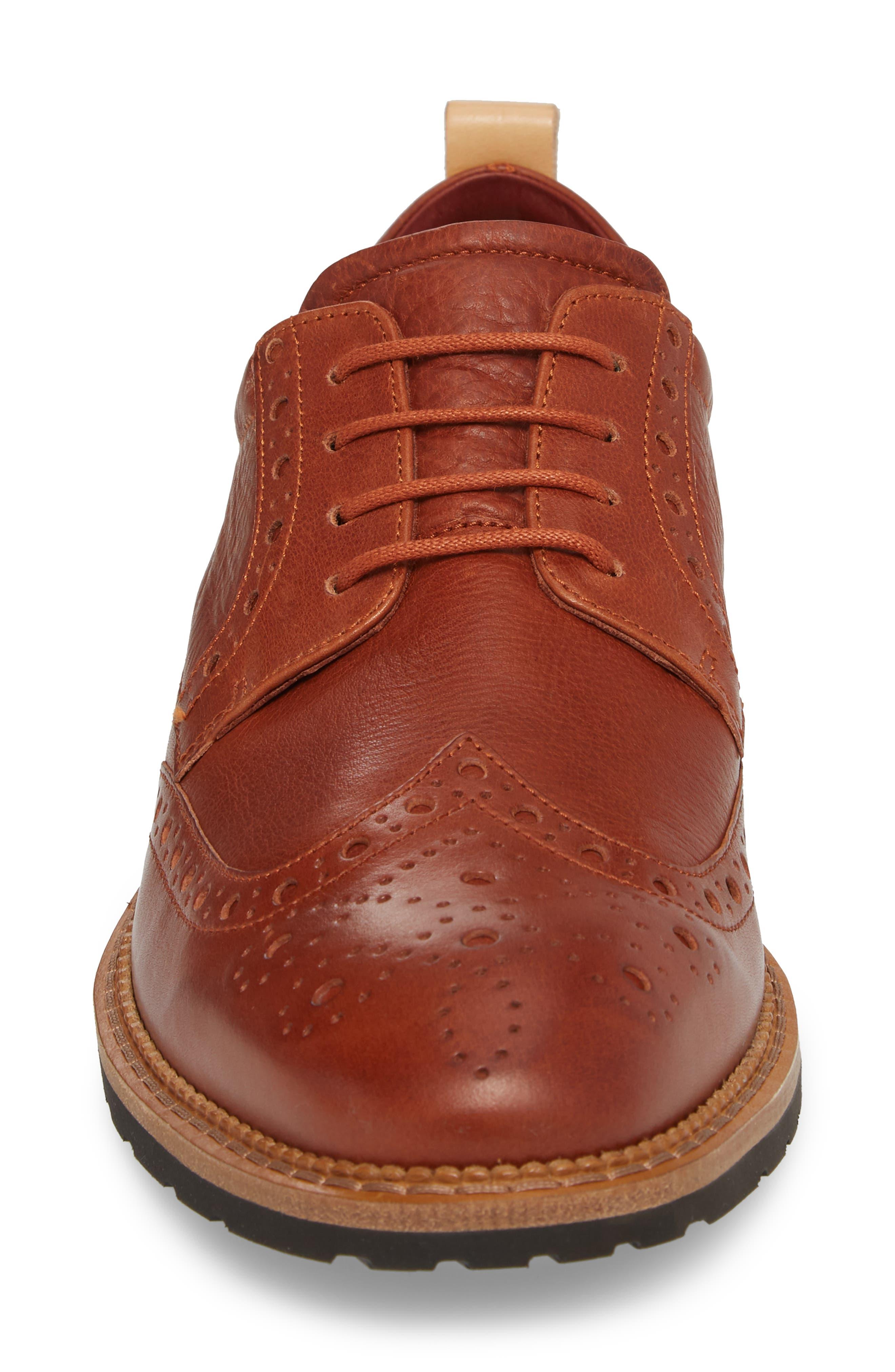Vitrus I Wingtip,                             Alternate thumbnail 4, color,                             Brandy Leather