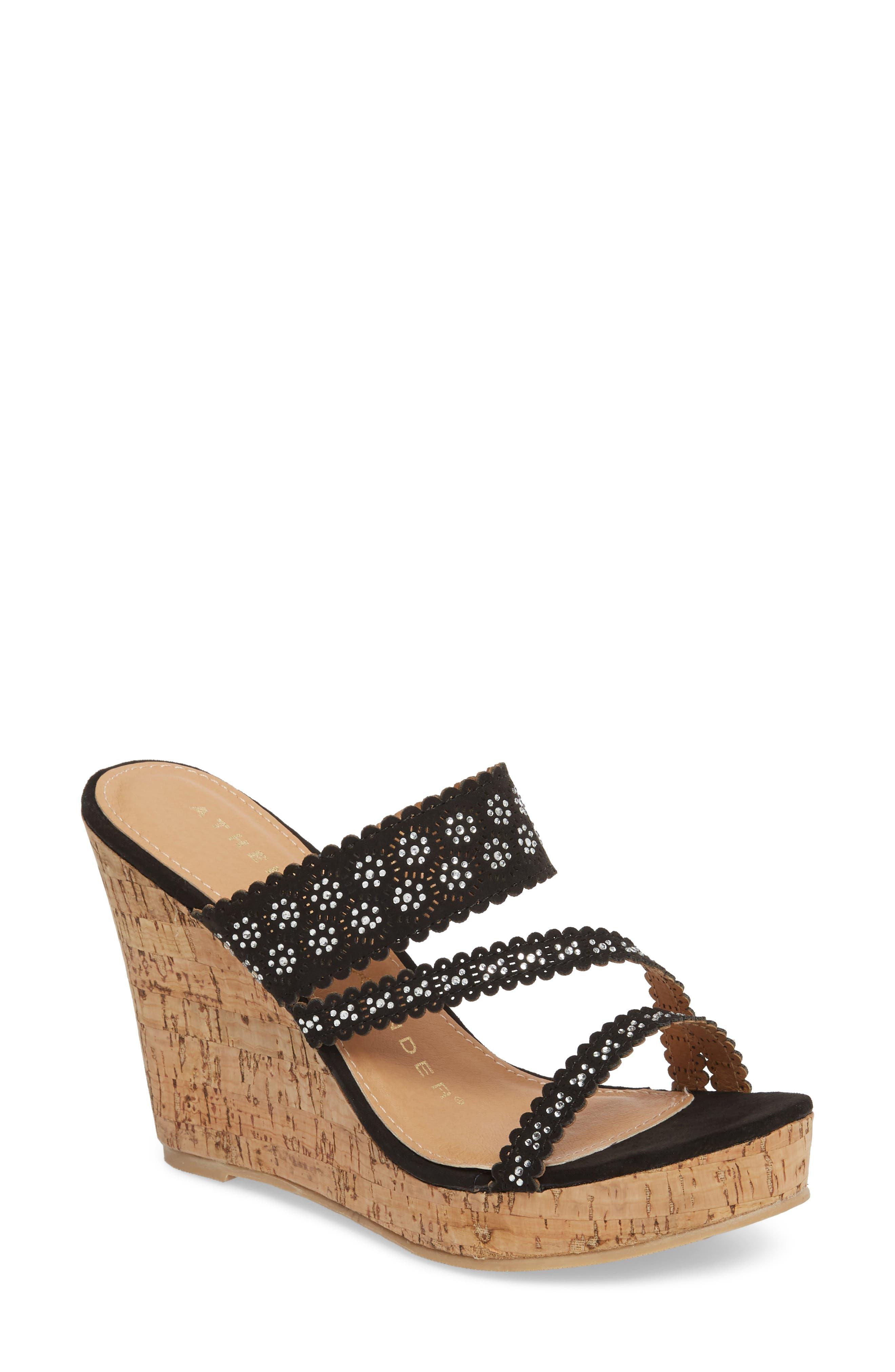 Athena Alexander Aerin Embellished Wedge Sandal (Women)