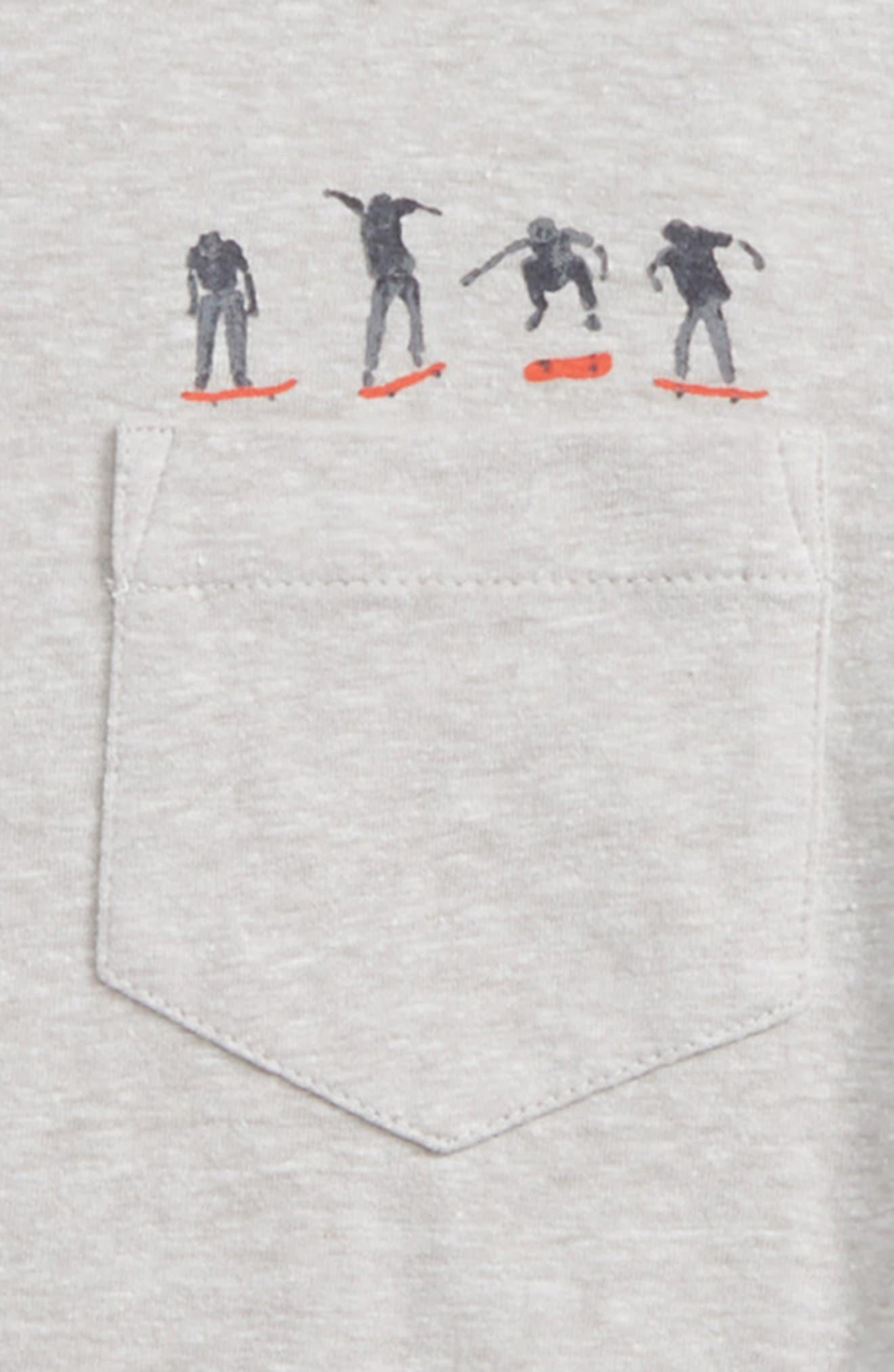 Pocket T-Shirt,                             Alternate thumbnail 2, color,                             Grey Ash Heather Skater