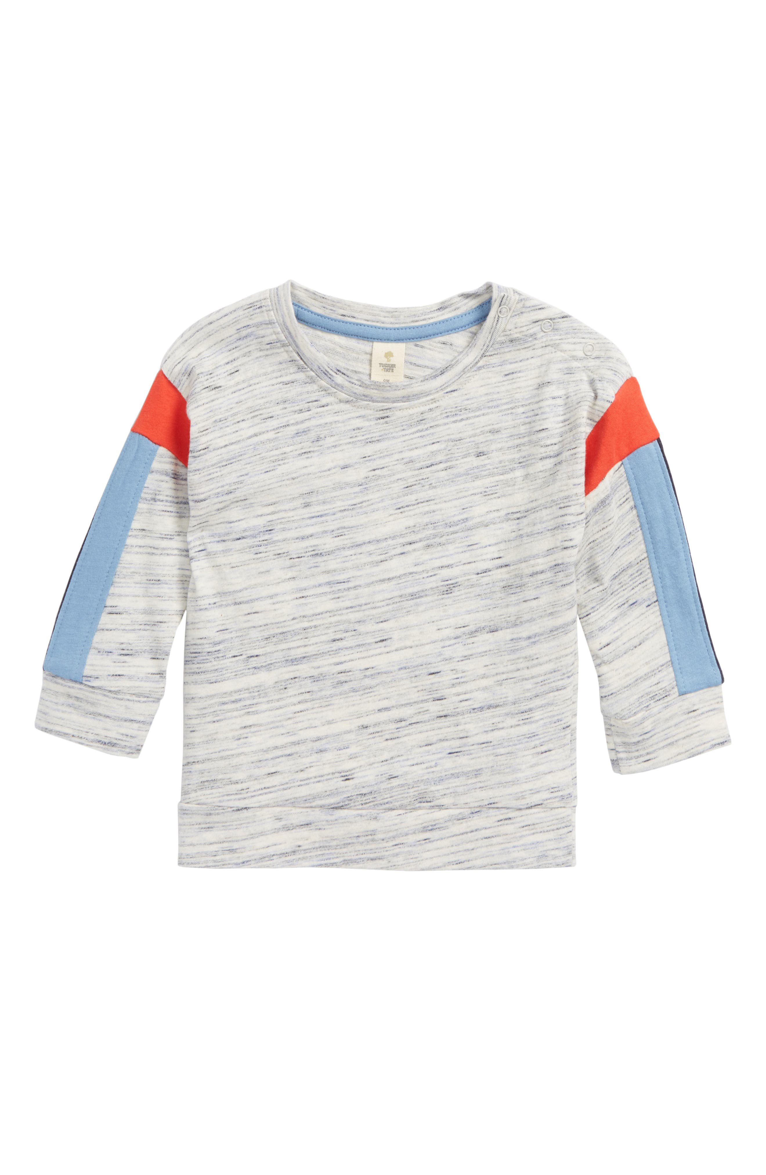 Stripe T-Shirt,                         Main,                         color, Grey Lunar