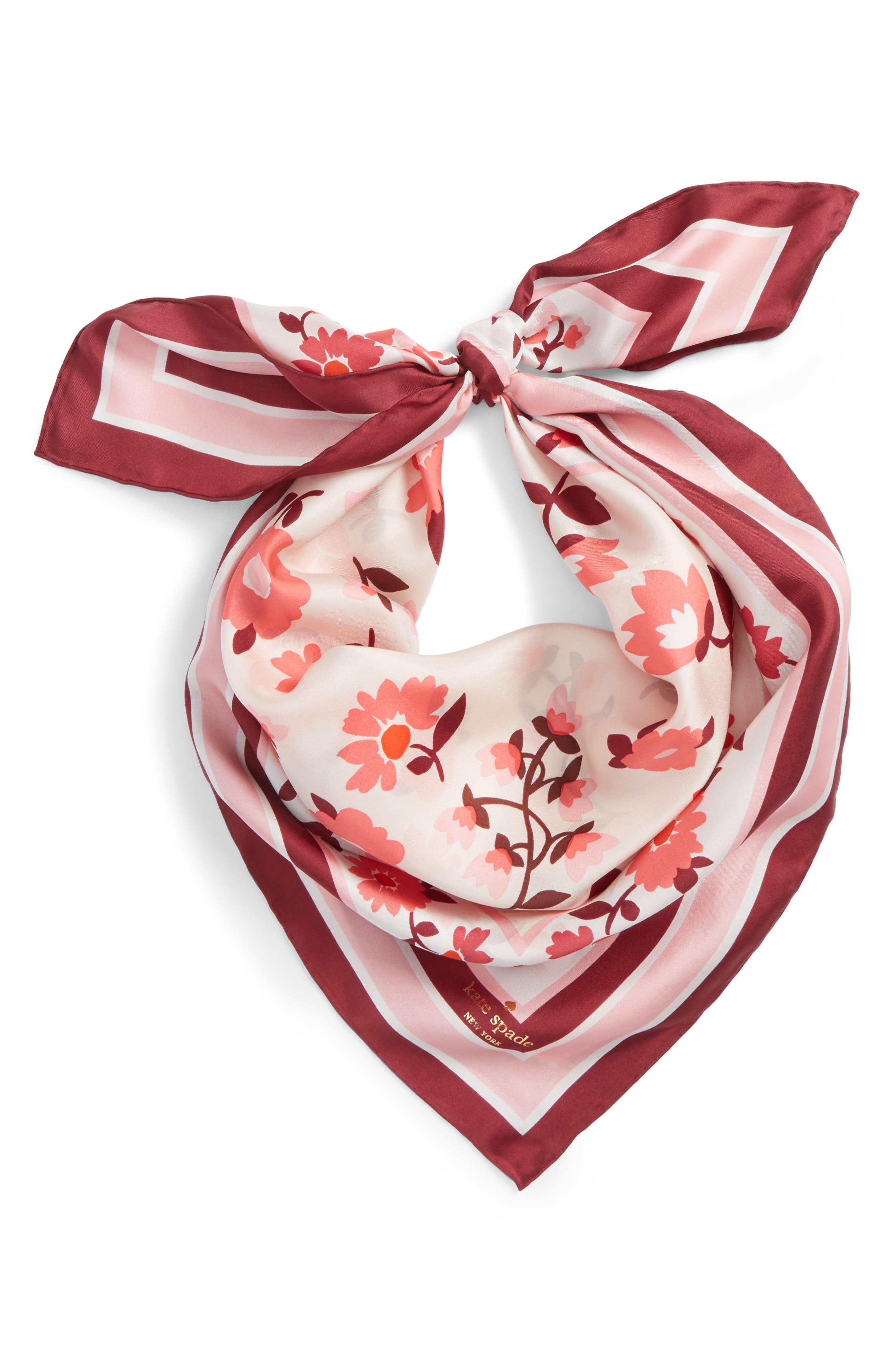 kate spade new york daisy silk scarf