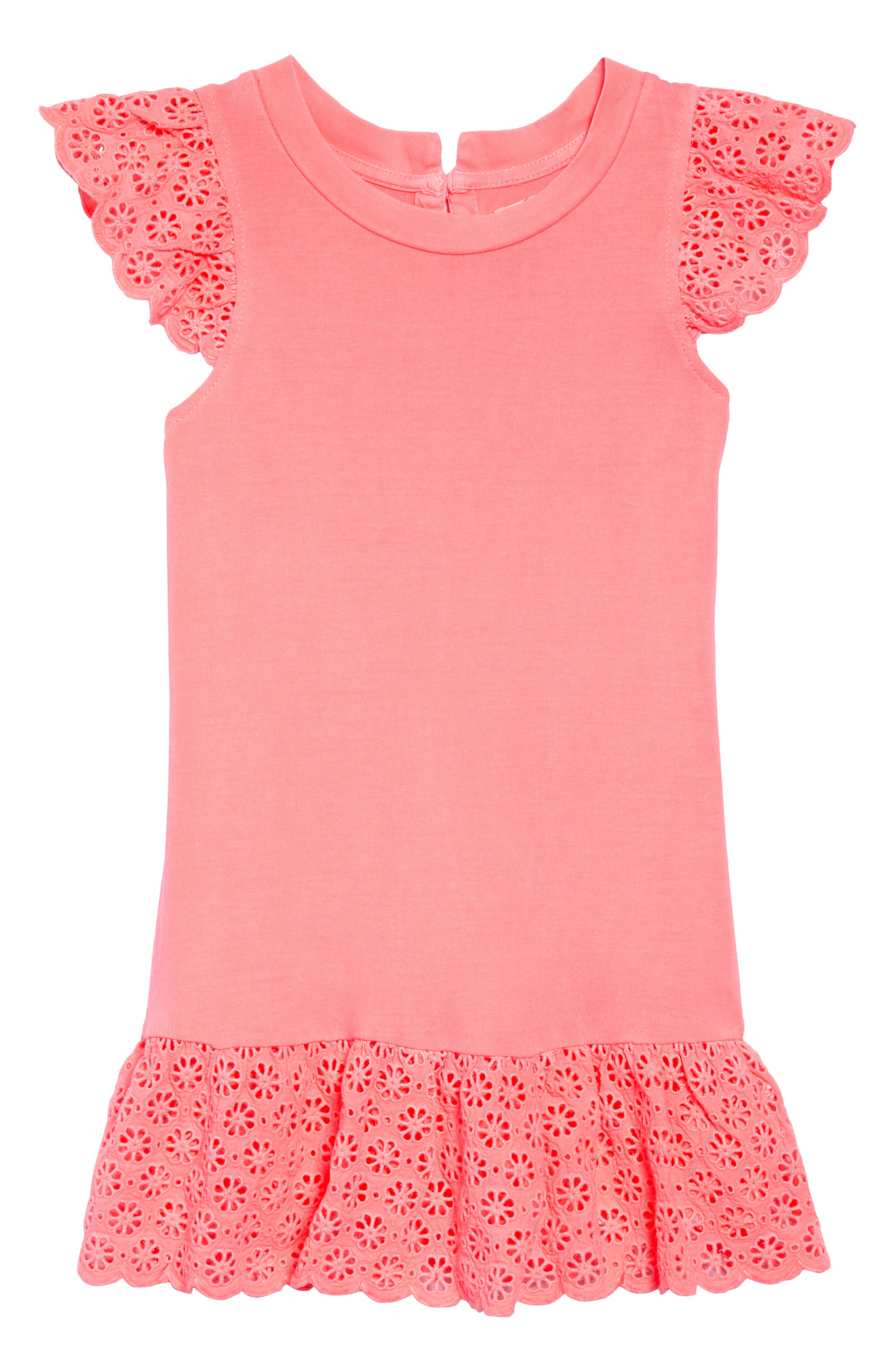 Ashley Dress,                             Main thumbnail 1, color,                             Neon Coral