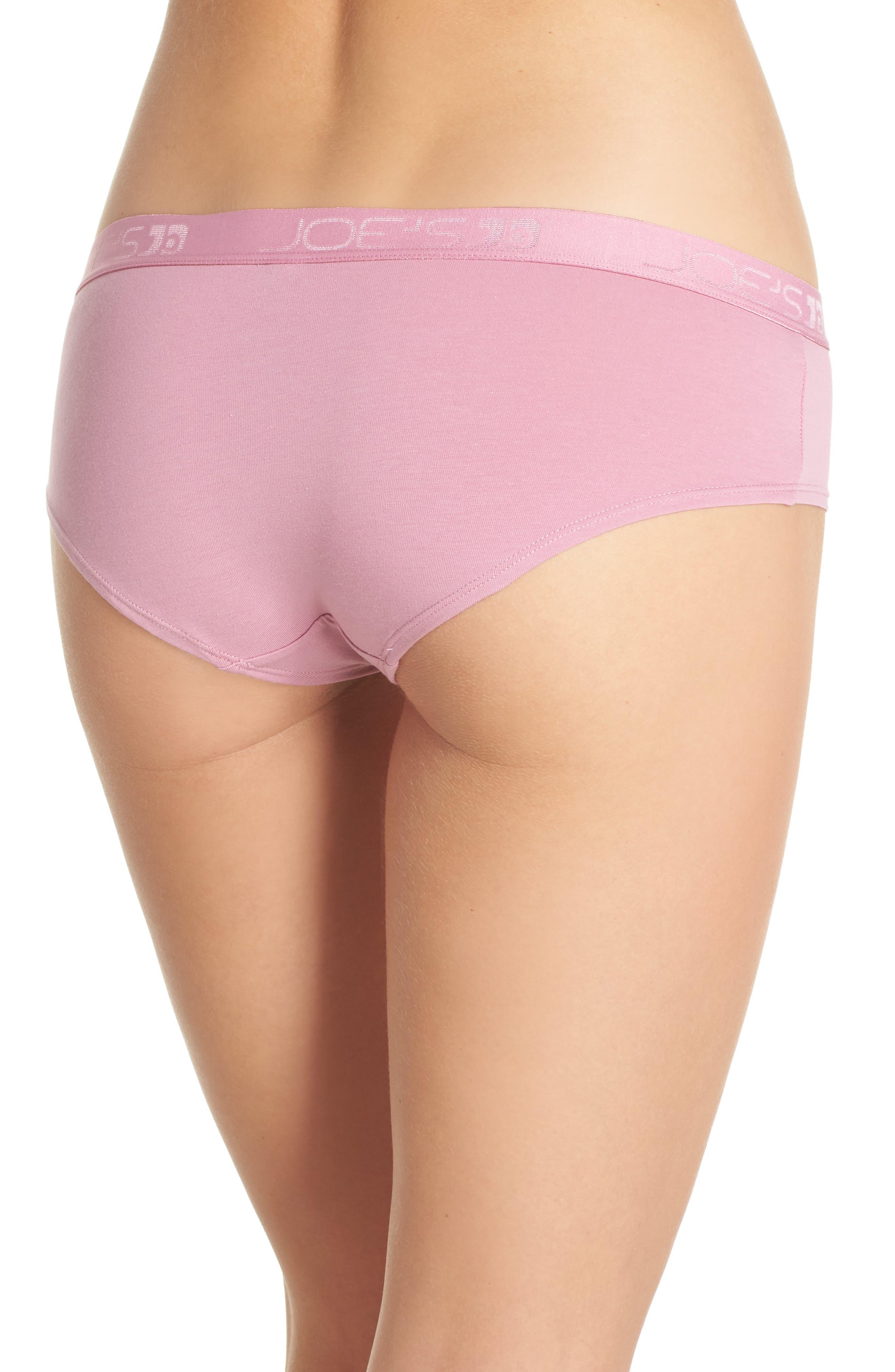 Logo Basic Hipster Panties,                             Alternate thumbnail 2, color,                             Rose Violet