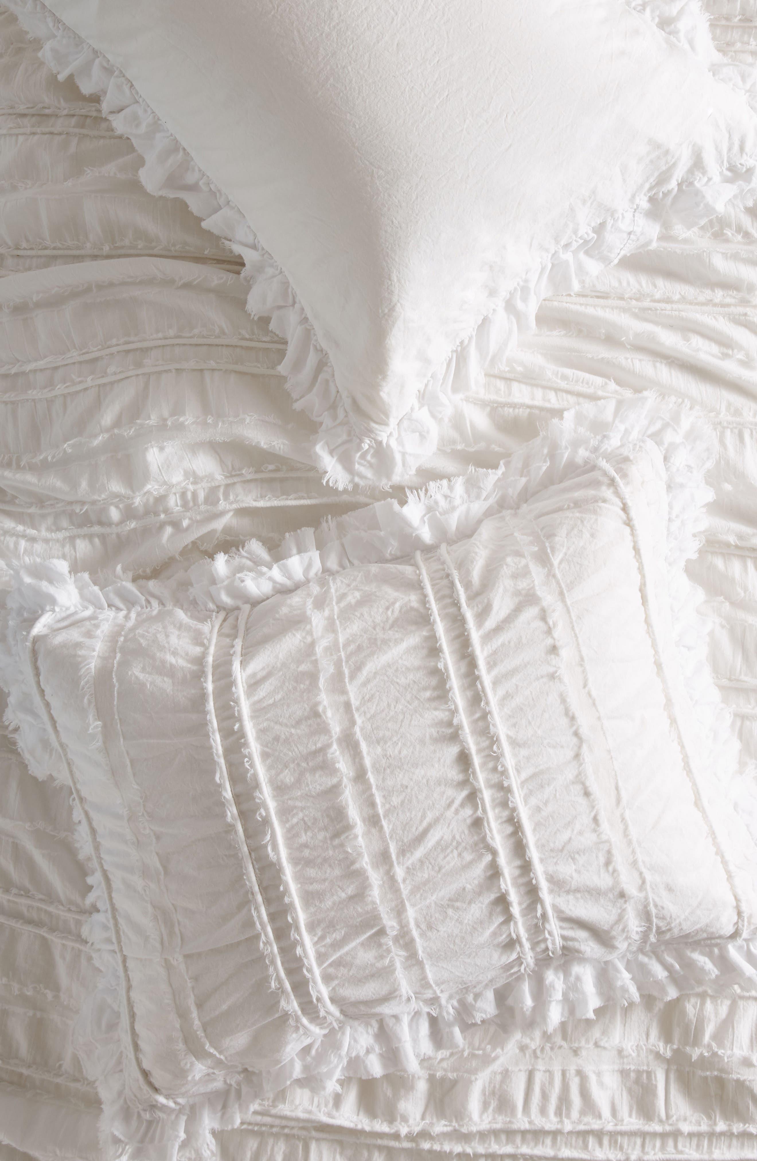 Corded Pillow Shams,                             Main thumbnail 1, color,                             White