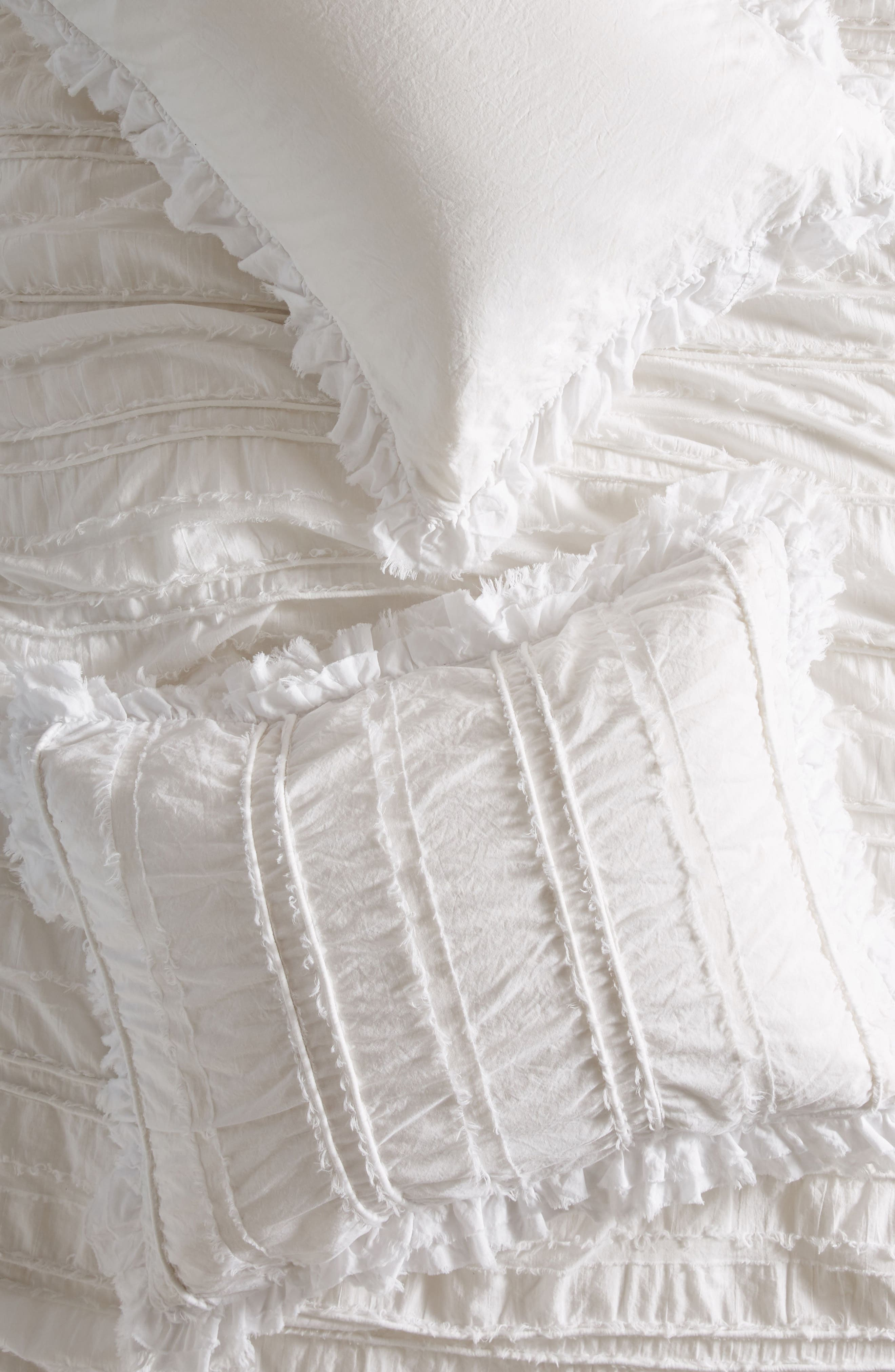 Corded Pillow Shams,                         Main,                         color, White