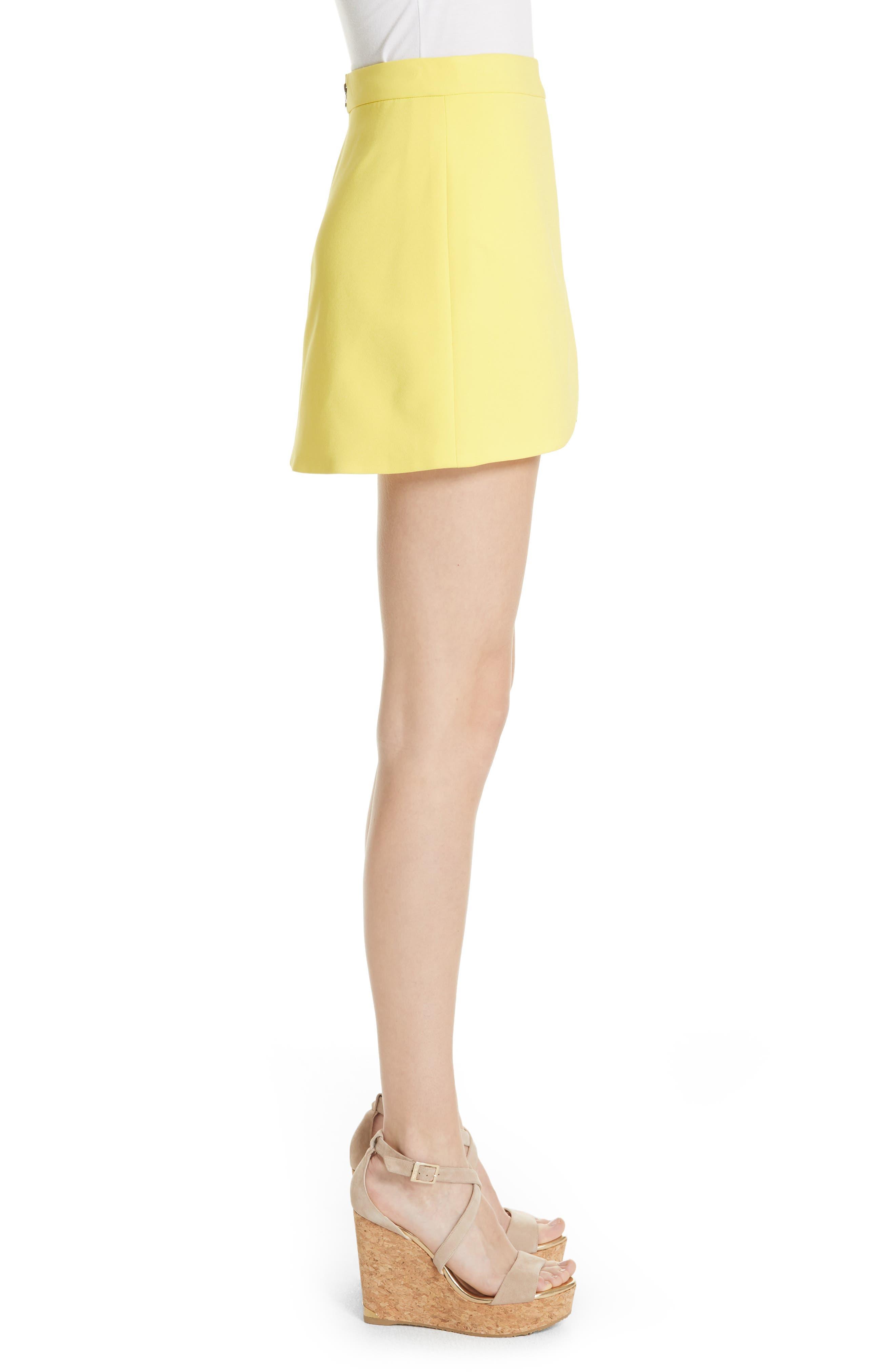 Lennon Side Zip Miniskirt,                             Alternate thumbnail 3, color,                             Lemon