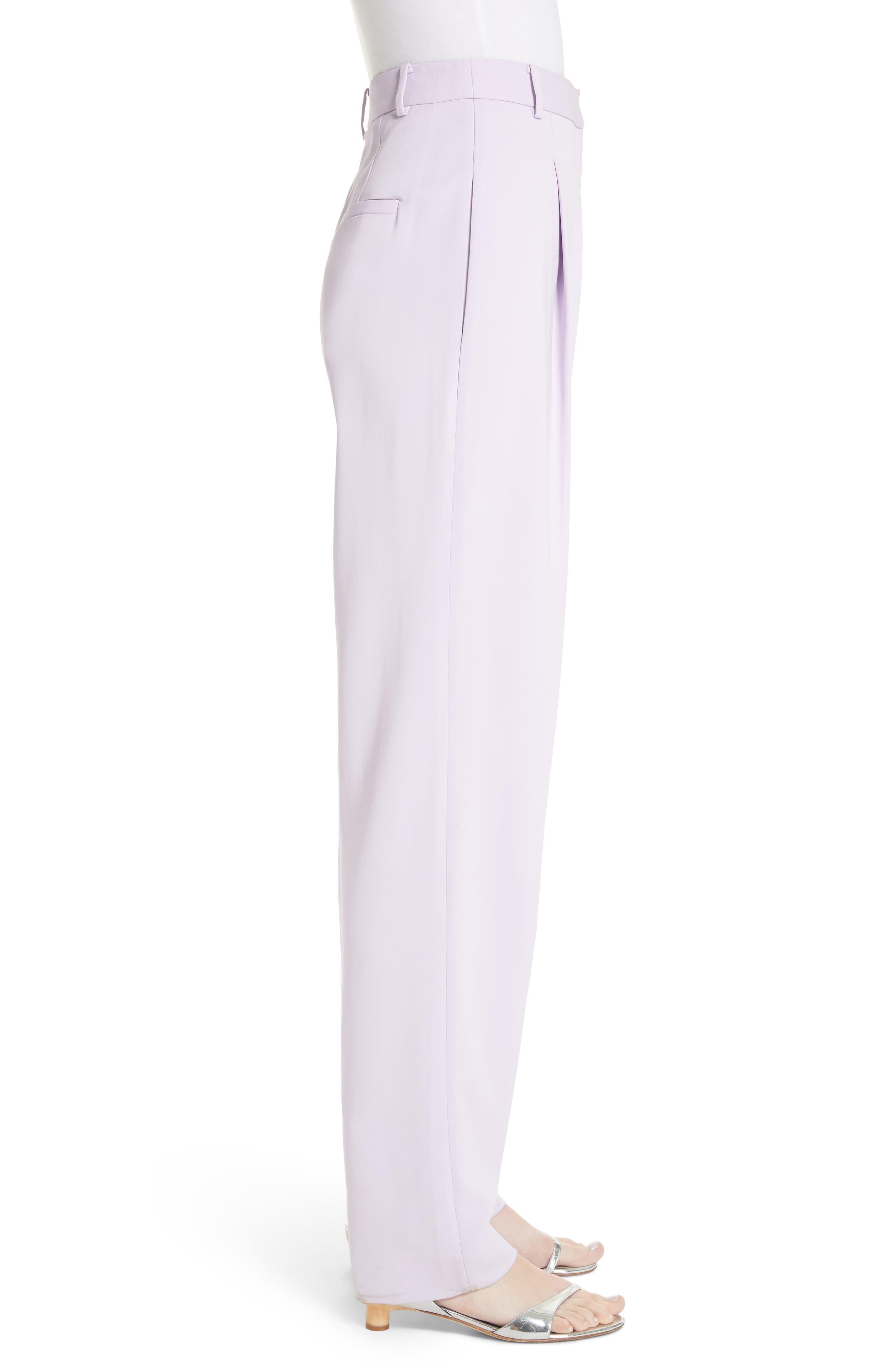 Sculpted Pleat Front Suit Pants,                             Alternate thumbnail 3, color,                             Lavender