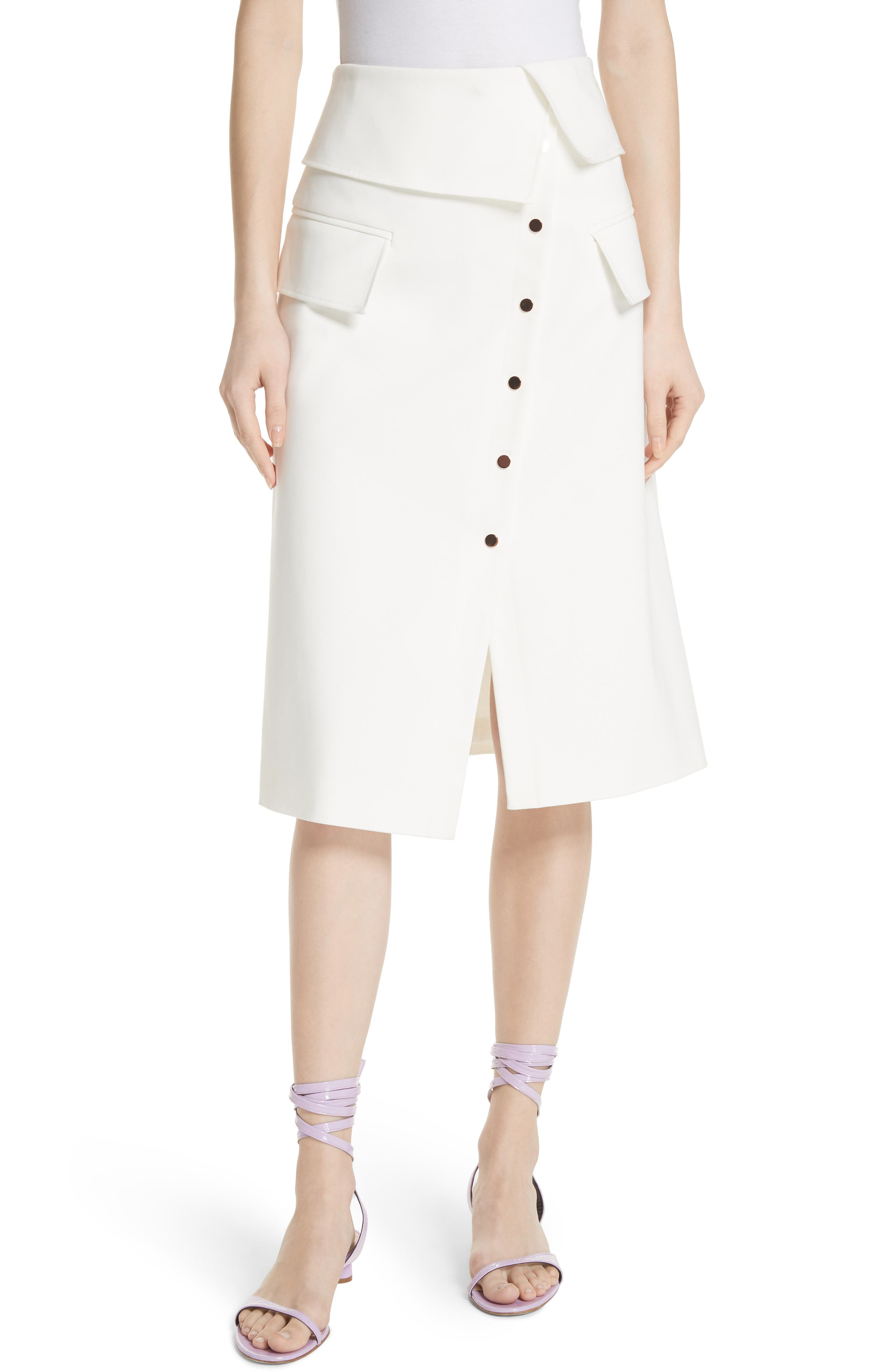 Tibi Flap Detail Urban Stretch Skirt