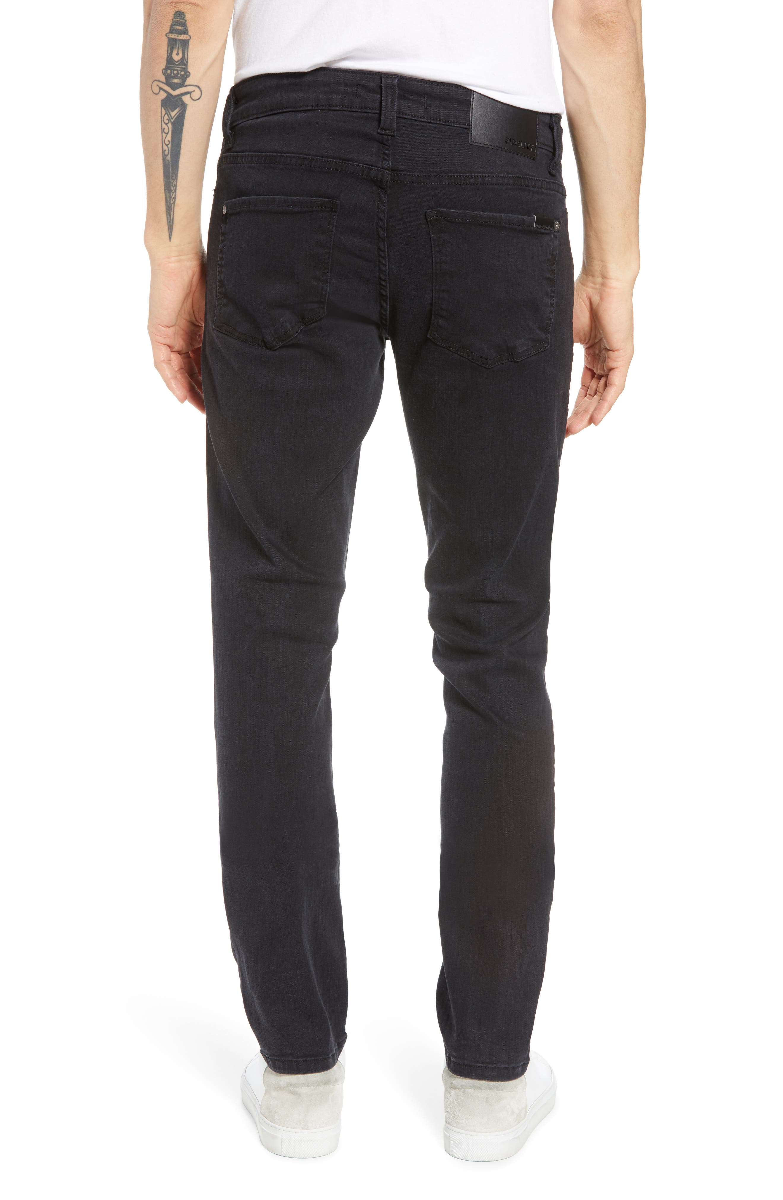 Alternate Image 2  - Fidelity Denim Torino Slim Fit Jeans (Blackbird)
