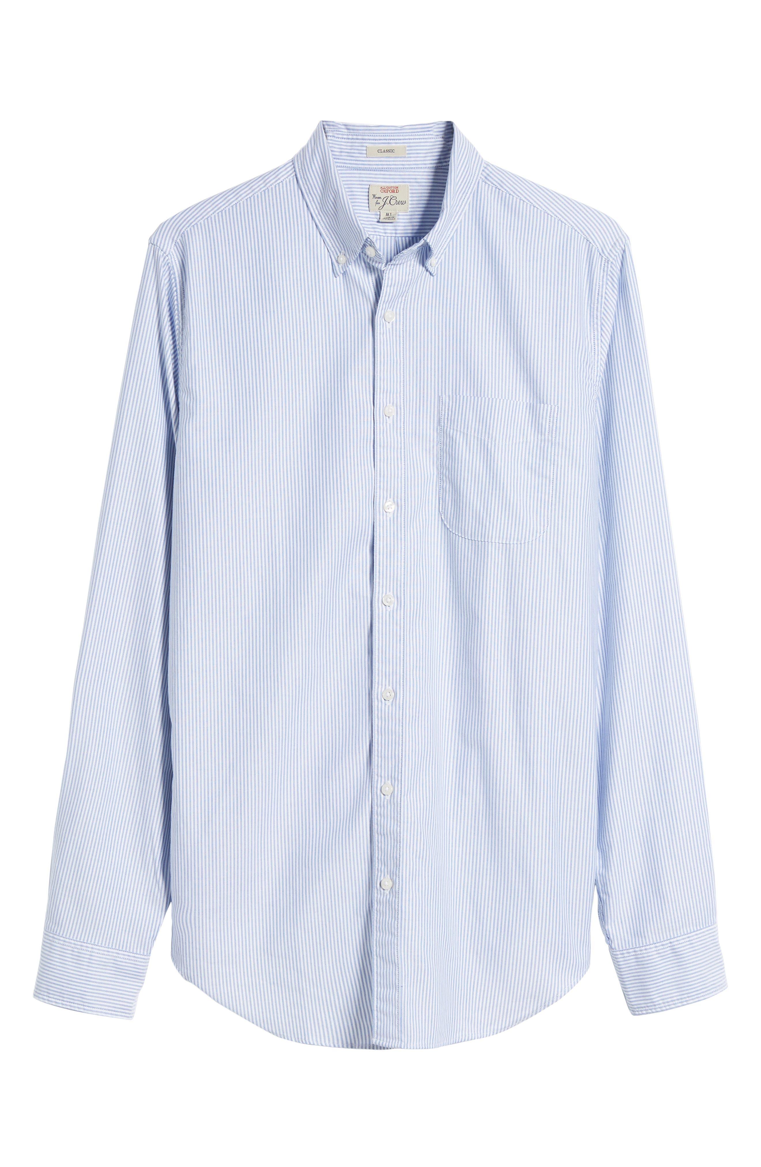Slim Fit Stretch Pima Cotton Oxford Shirt,                         Main,                         color, Raincoat Blue