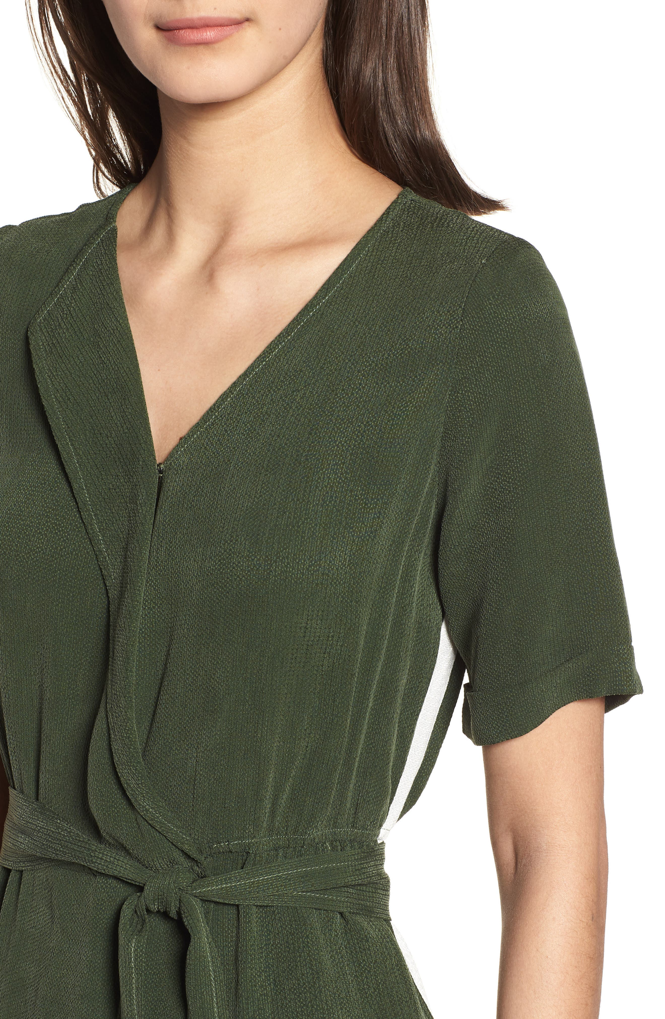 Downstairs Crop Jumpsuit,                             Alternate thumbnail 4, color,                             Green