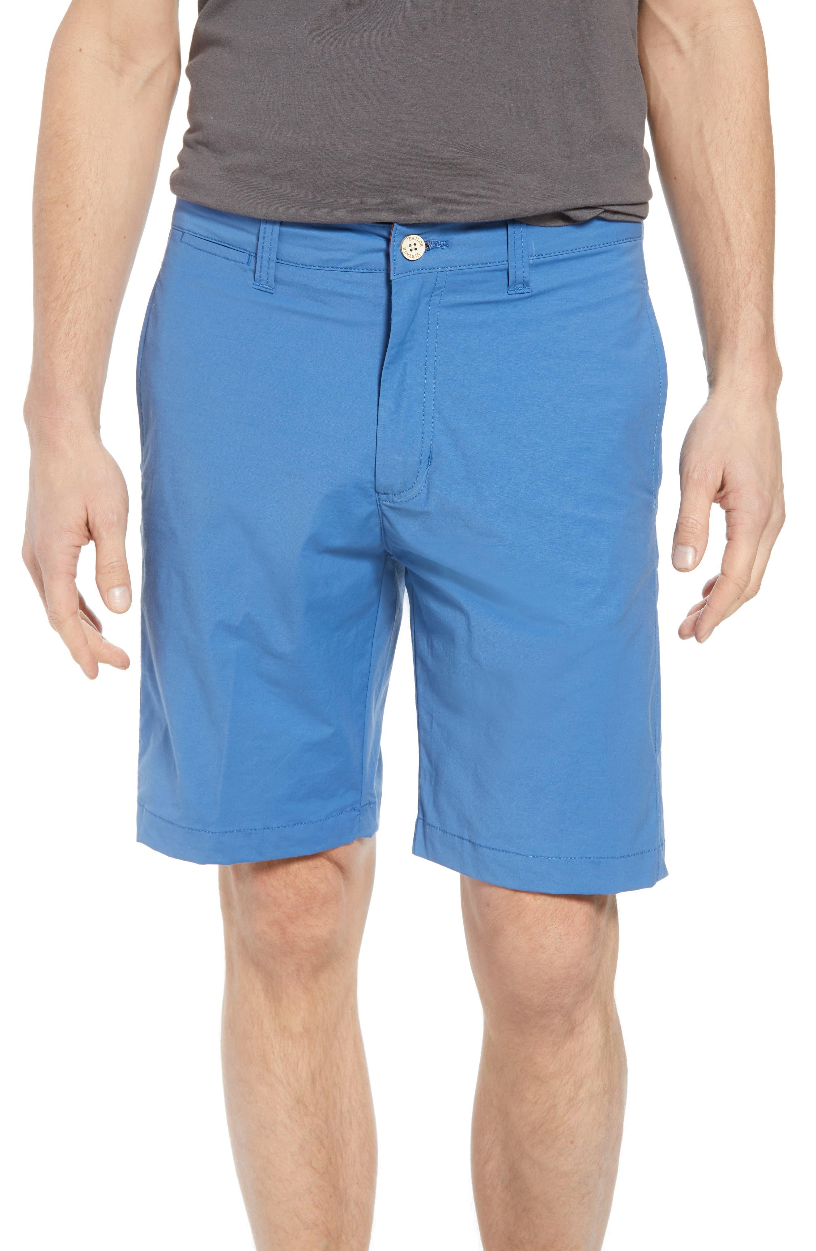 Stretch Cotton Blend Shorts,                             Main thumbnail 1, color,                             Delft