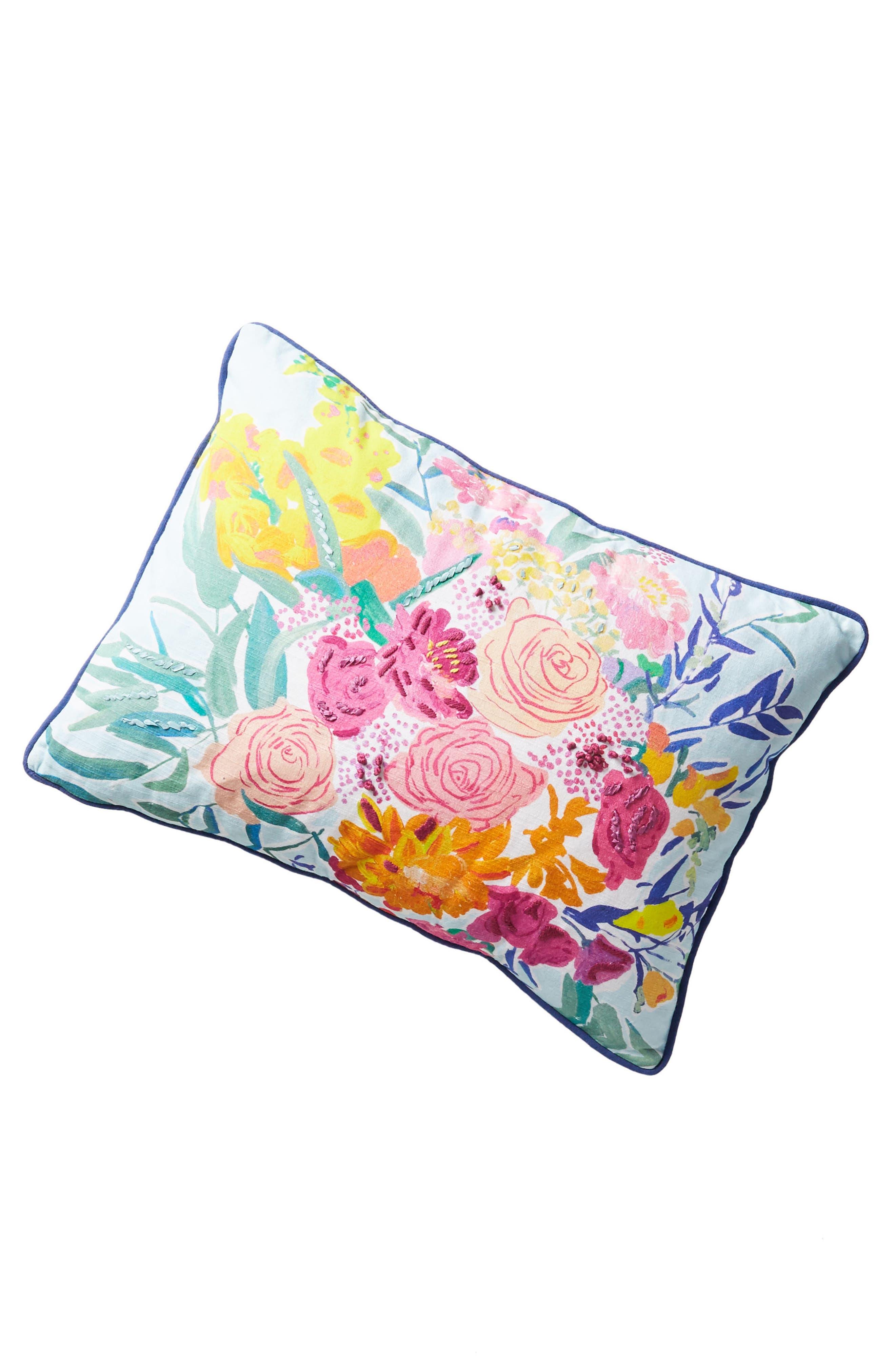 Paint + Petals Accent Pillow,                             Alternate thumbnail 5, color,                             Pink