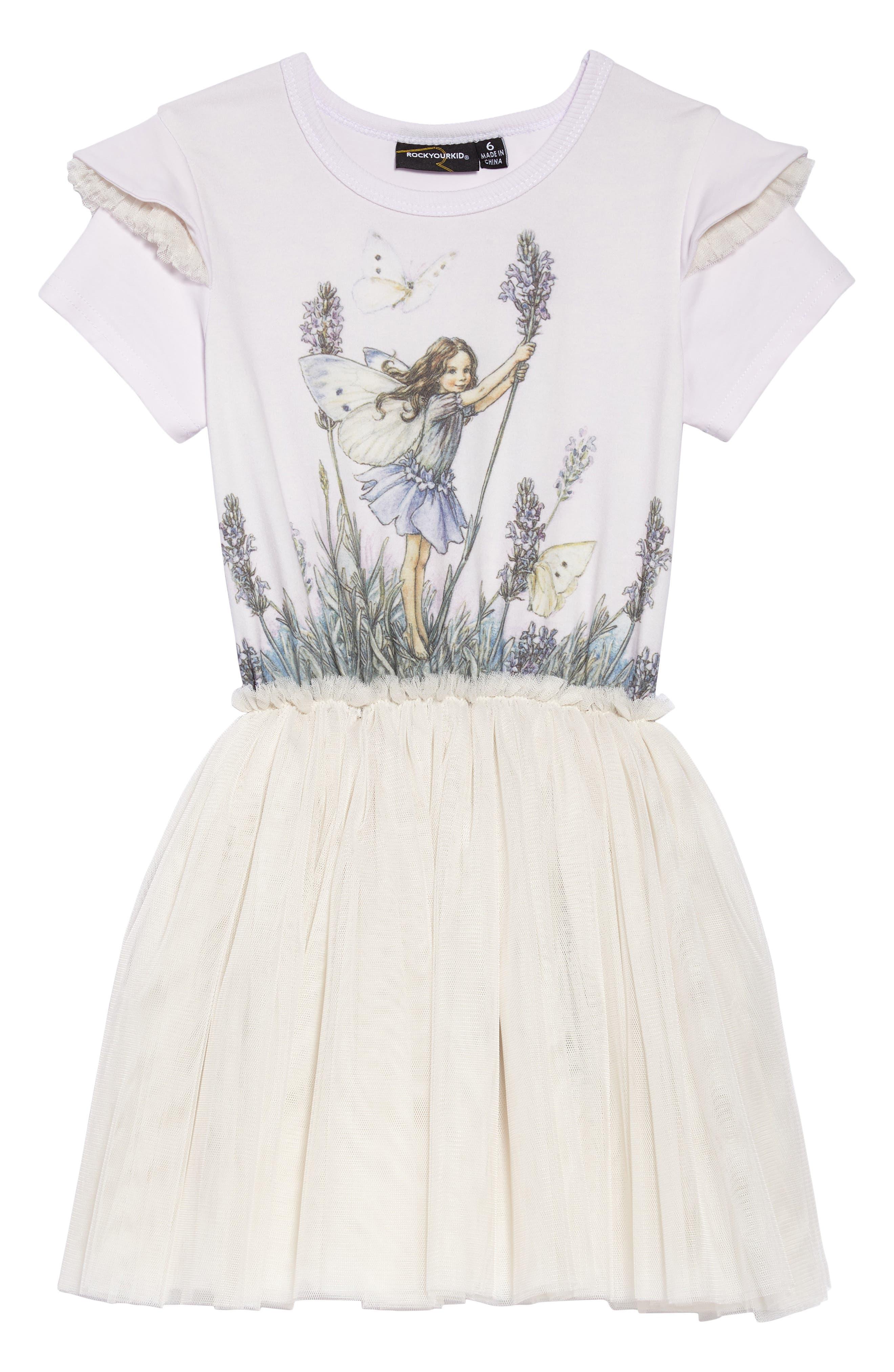 Fairy Wishes Circus Dress,                         Main,                         color, Lavendar/ Oatmeal