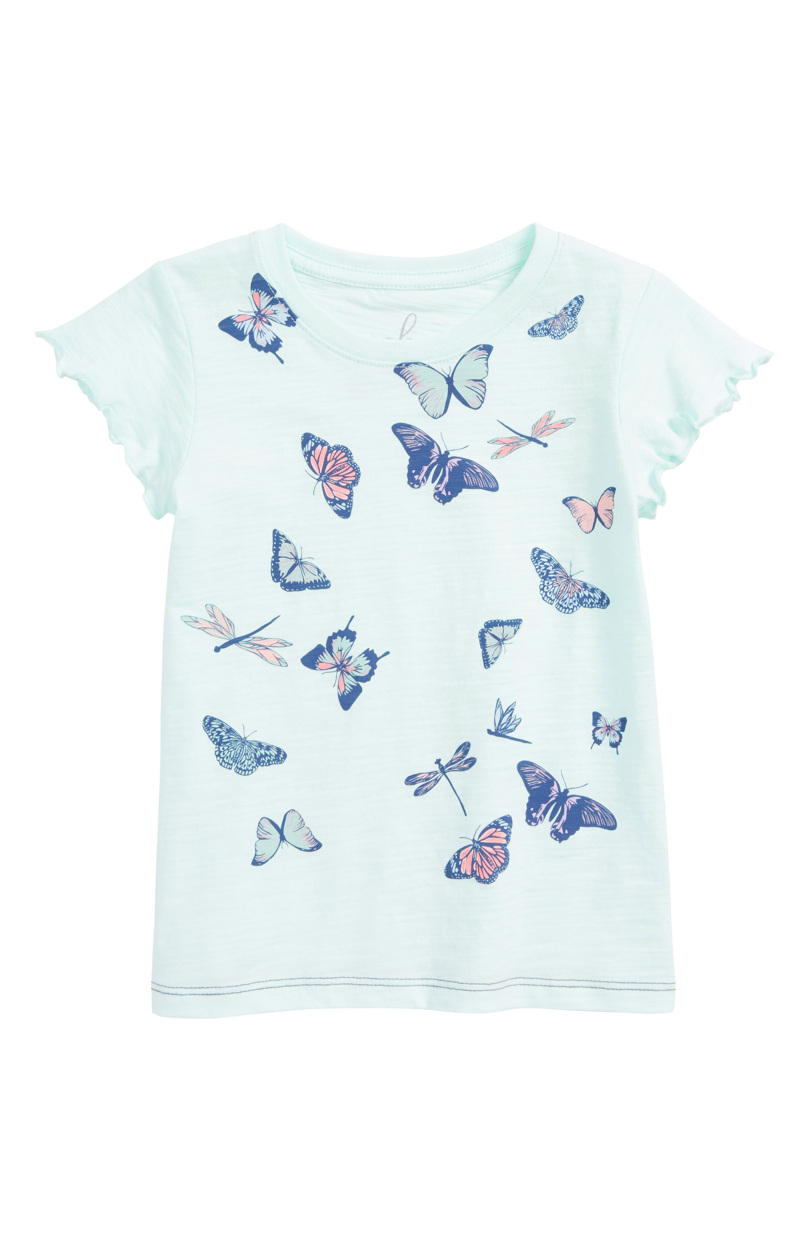 Butterfly Graphic Tee,                             Main thumbnail 1, color,                             Blue