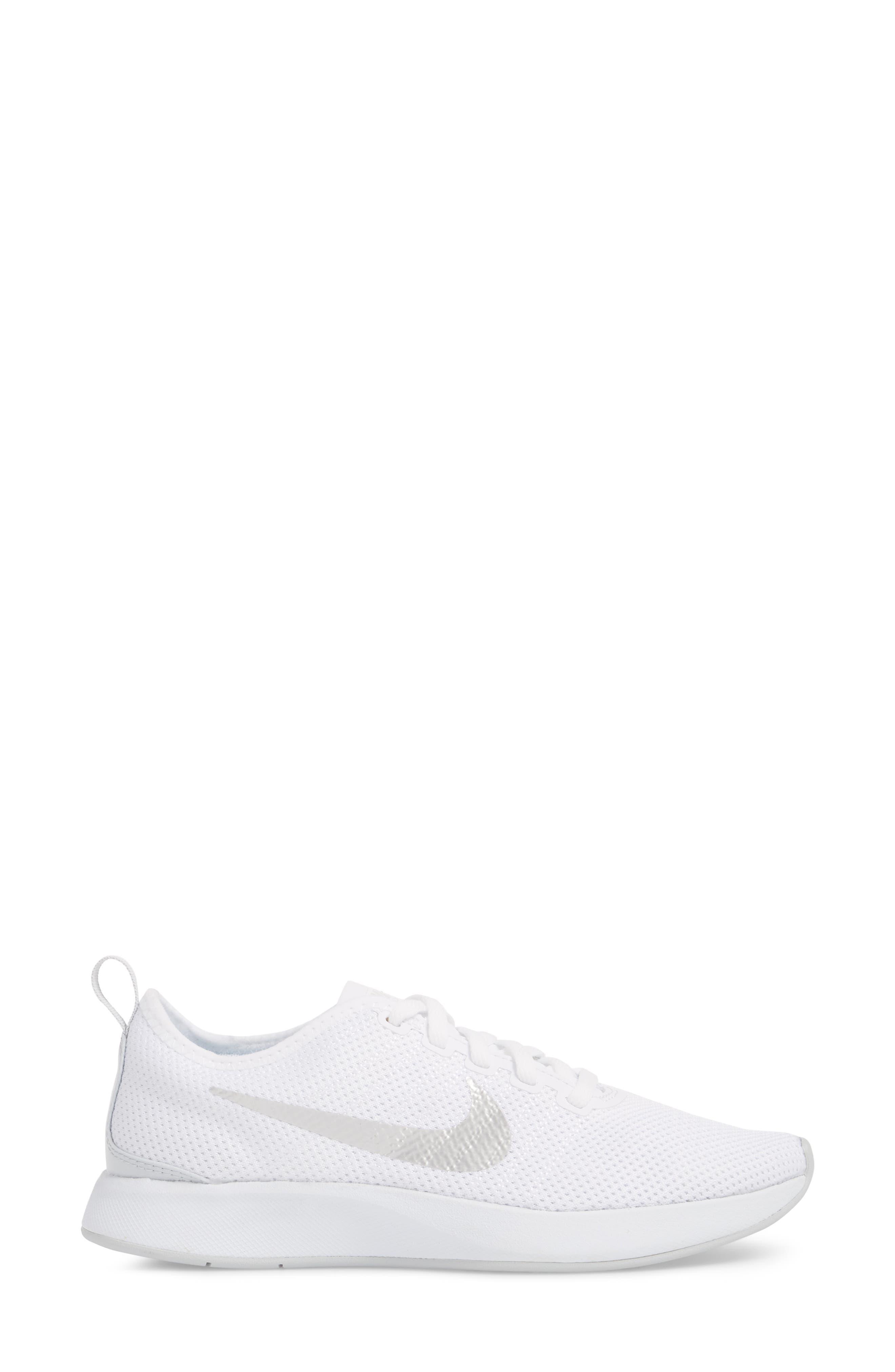 Dualtone Racer Running Shoe,                             Alternate thumbnail 3, color,                             White/ Pure Platinum