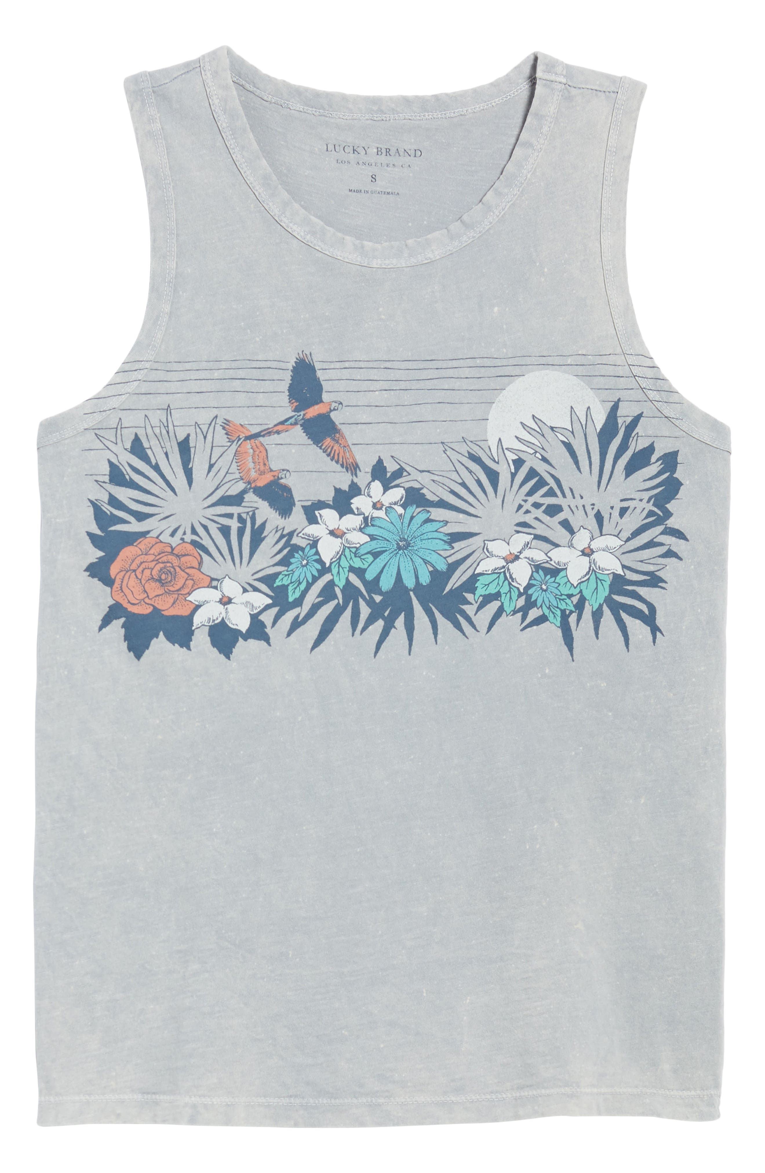 Paradise Floral Tank,                             Alternate thumbnail 7, color,                             Washed Blue