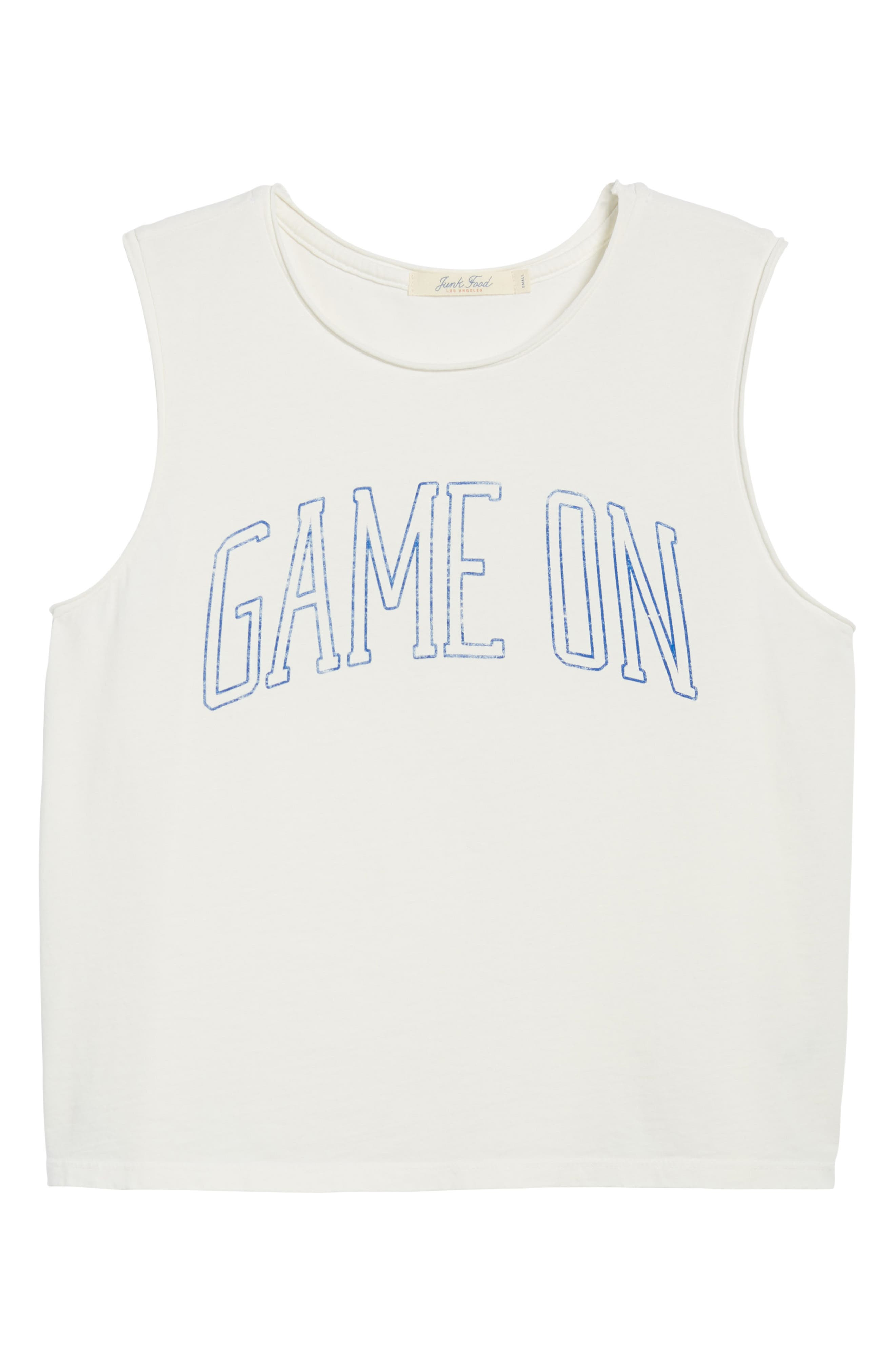 Game On Muscle Tank,                             Alternate thumbnail 7, color,                             Vintage White Blue
