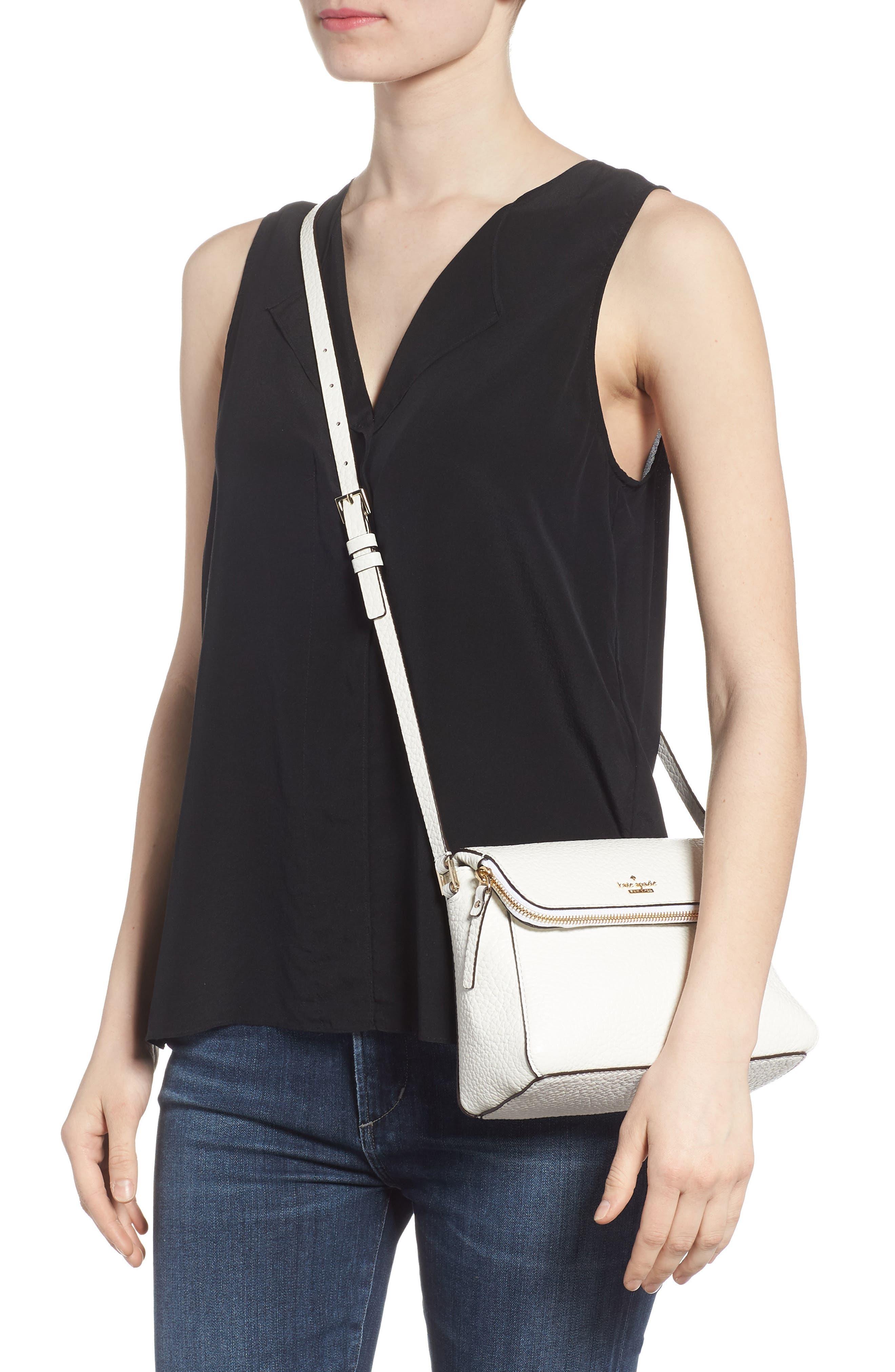 carter street - berrin leather crossbody bag,                             Alternate thumbnail 2, color,                             Bright White