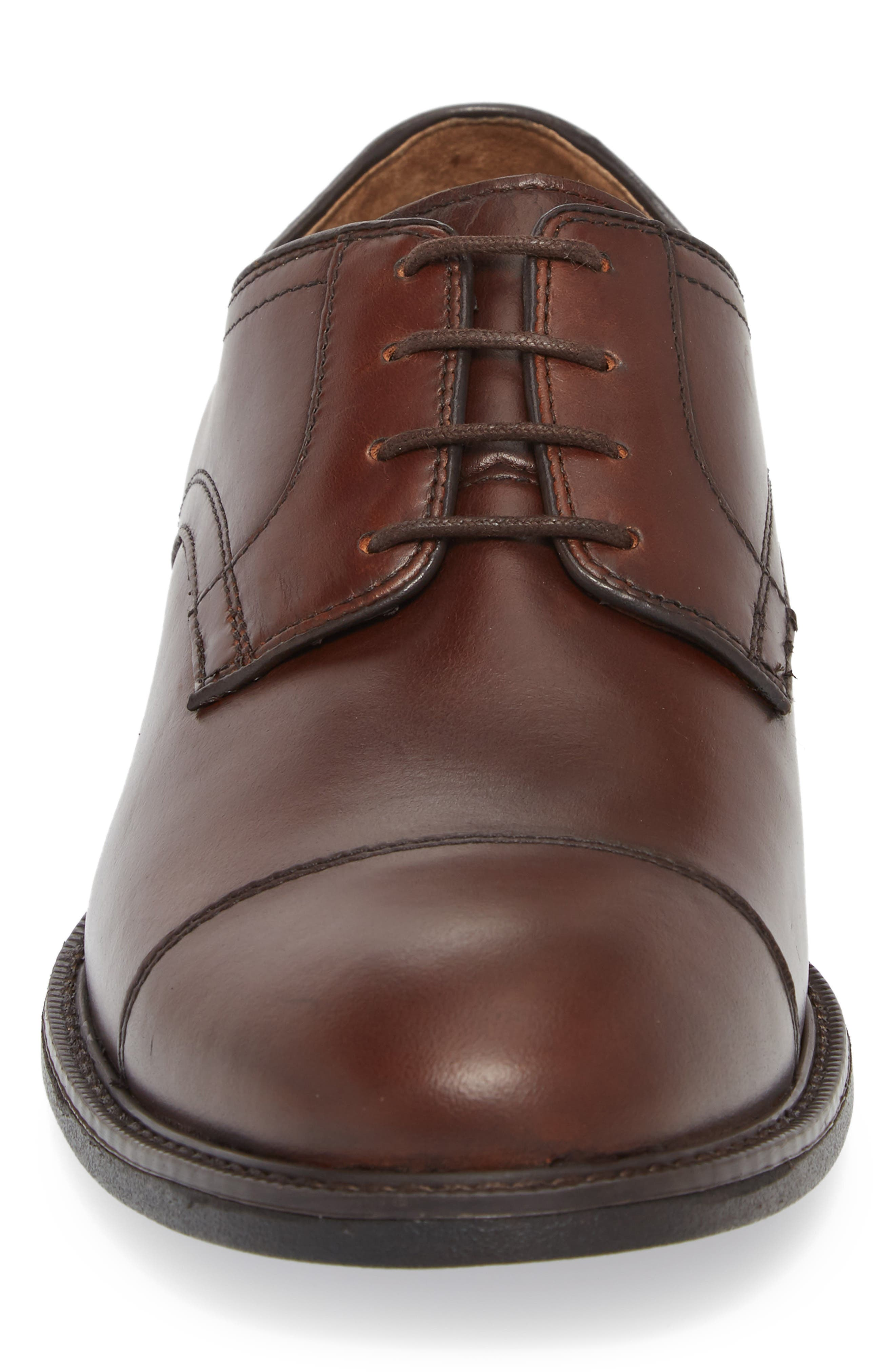 Hollis XC4<sup>®</sup> Waterproof Cap Toe Derby,                             Alternate thumbnail 4, color,                             Oak Brown Leather