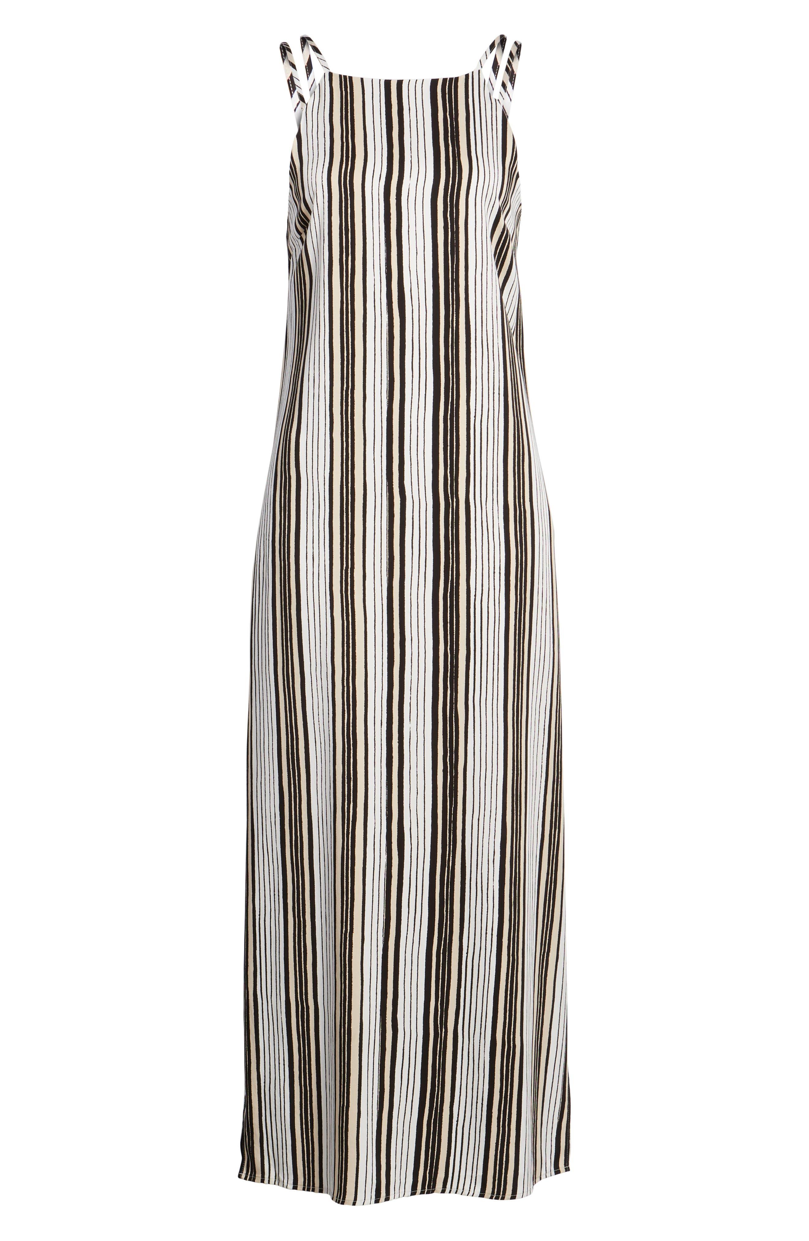 Corin Stripe Maxi Dress,                             Alternate thumbnail 7, color,                             Ivory