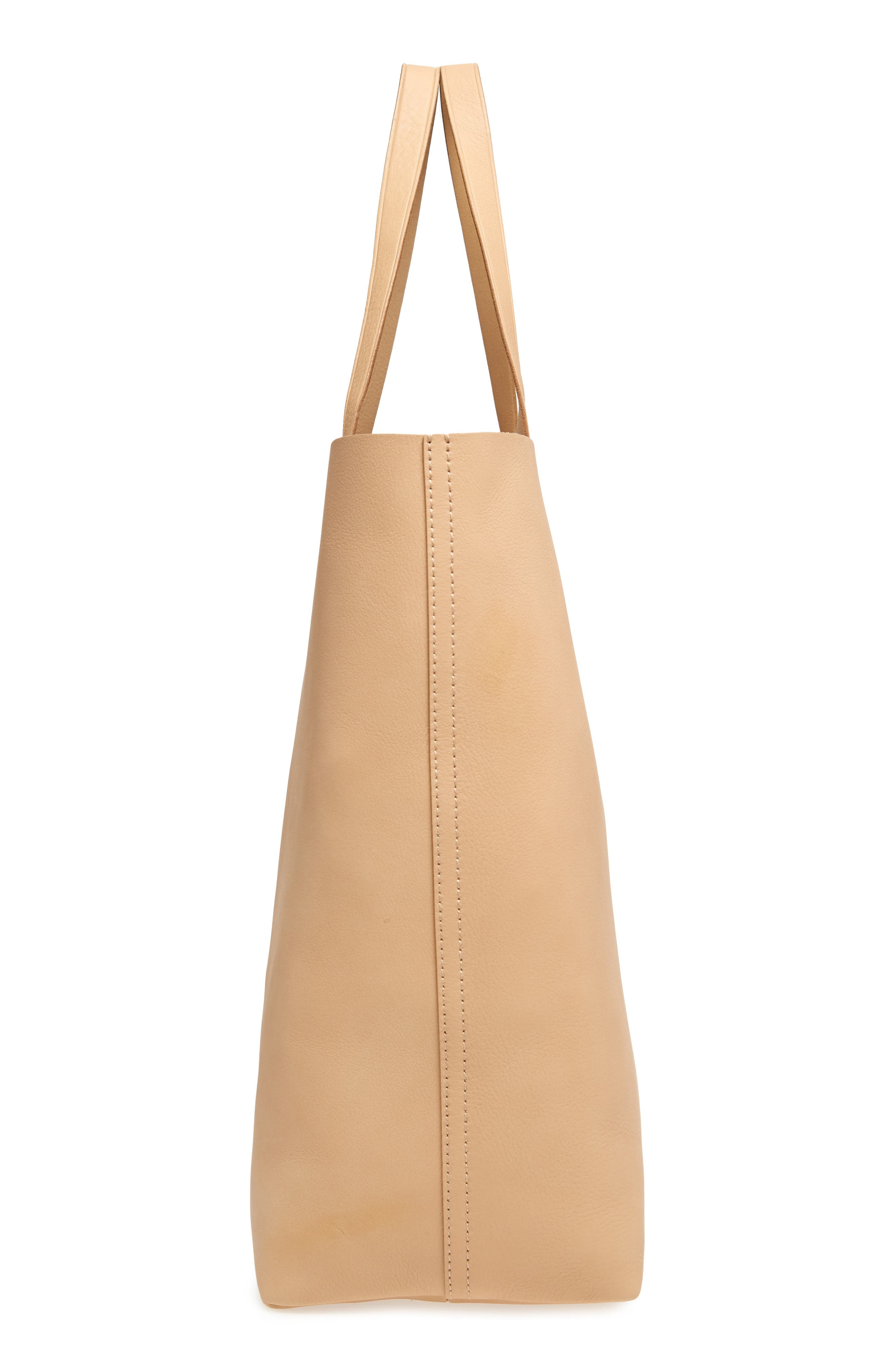 'Transport' Leather Tote,                             Alternate thumbnail 5, color,                             Linen