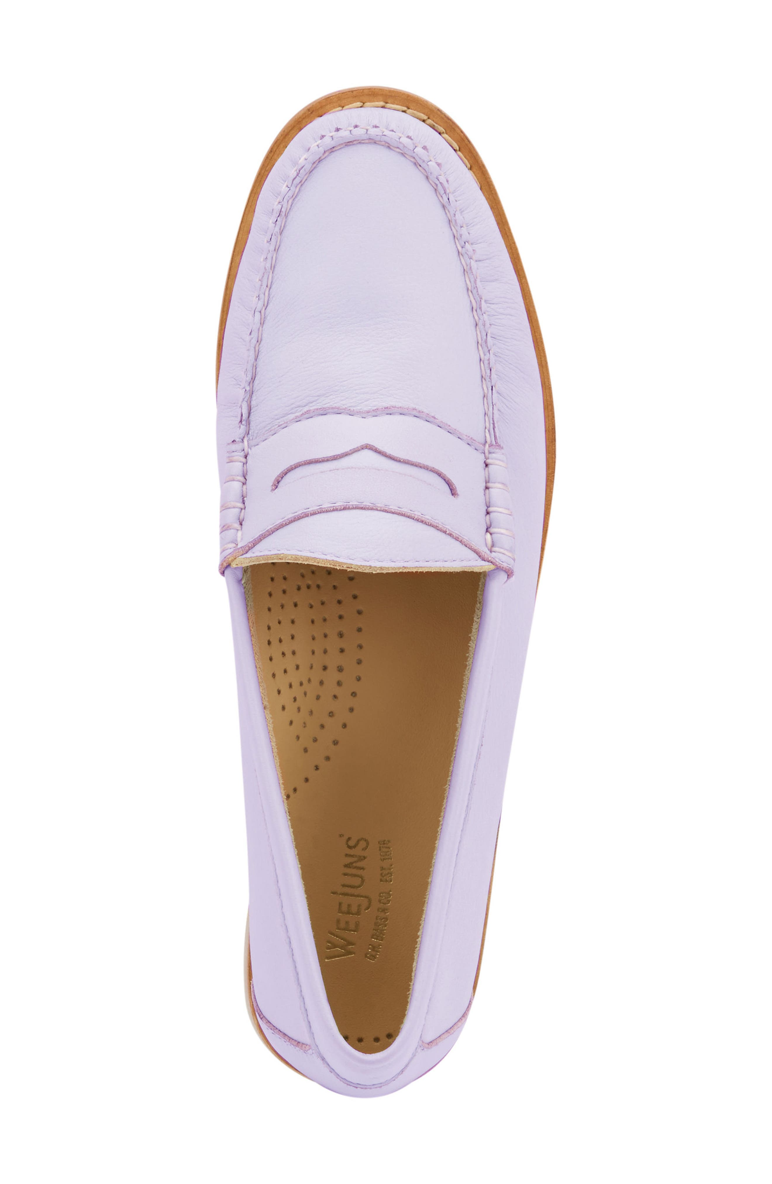 'Whitney' Loafer,                             Alternate thumbnail 5, color,                             Lilac Leather