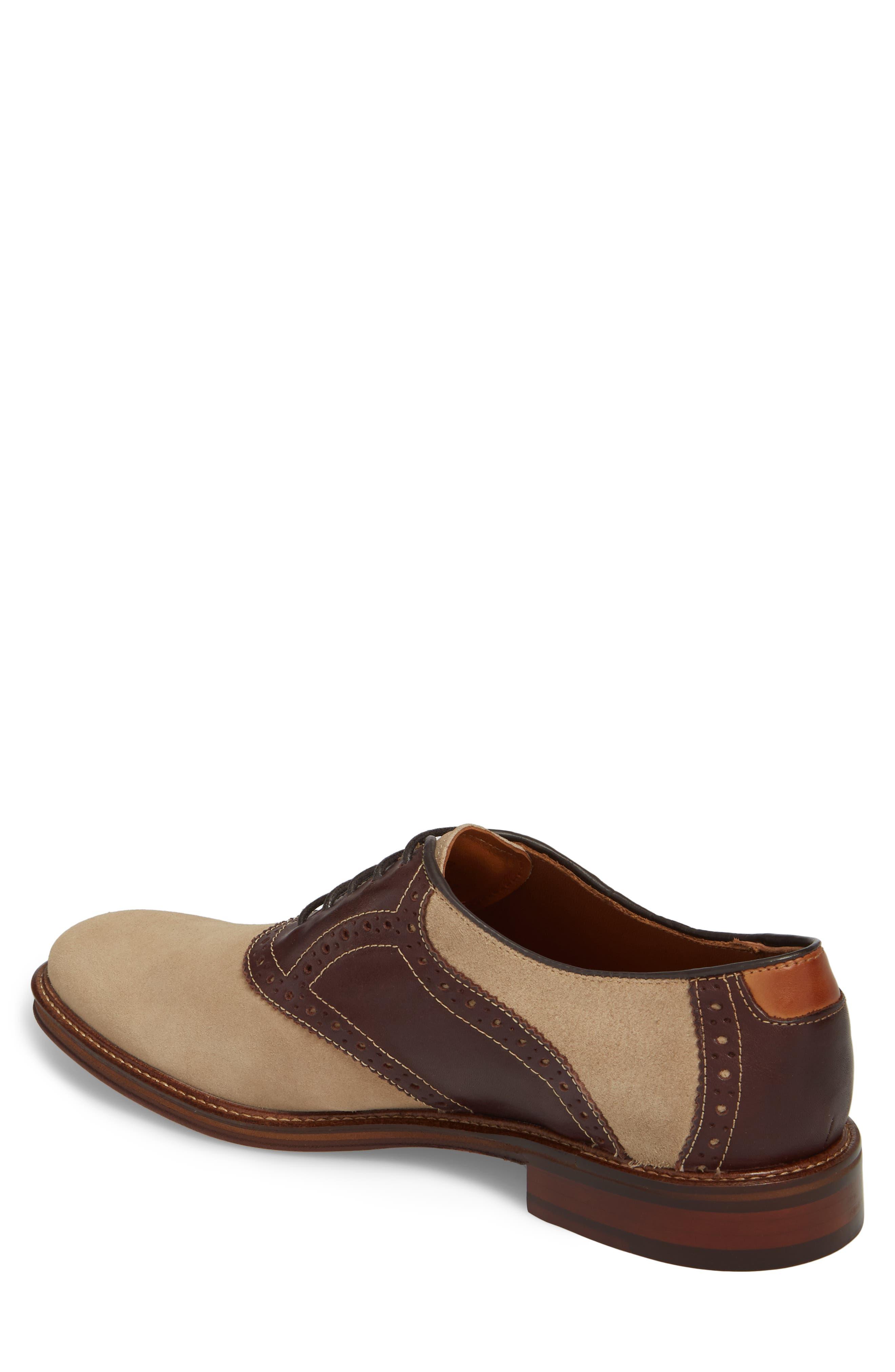 Warner Saddle Shoe,                             Alternate thumbnail 2, color,                             Camel Nubuck