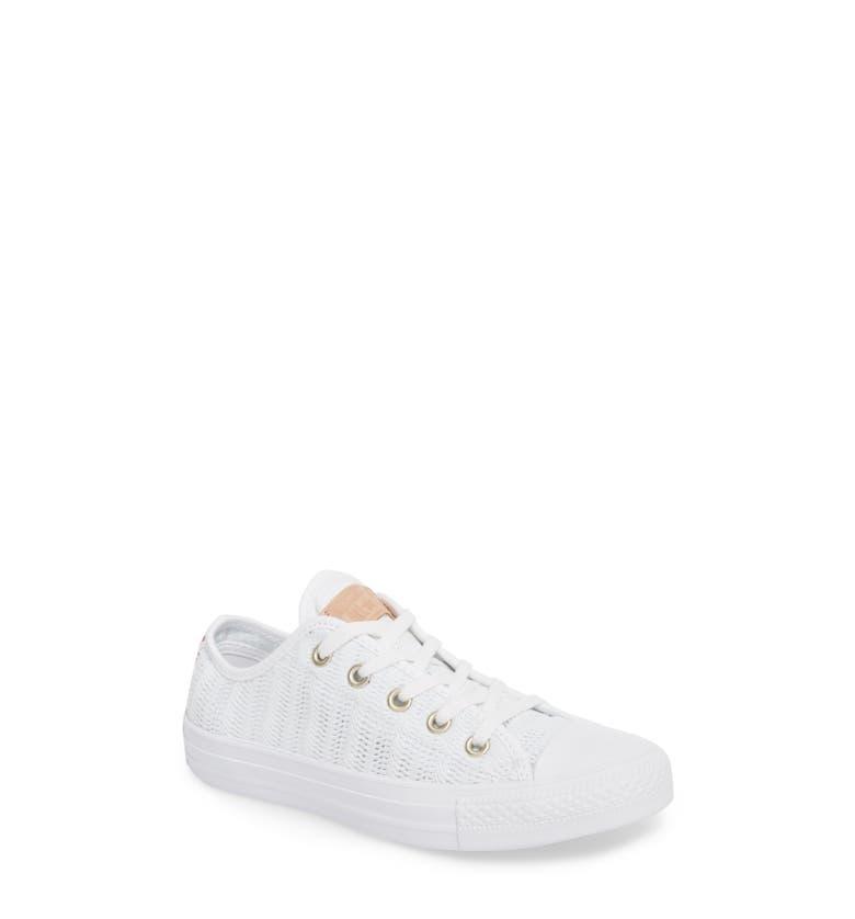 Converse Chuck Taylor All Star Seasonal Ox Low Top Sneaker In White/ Tan