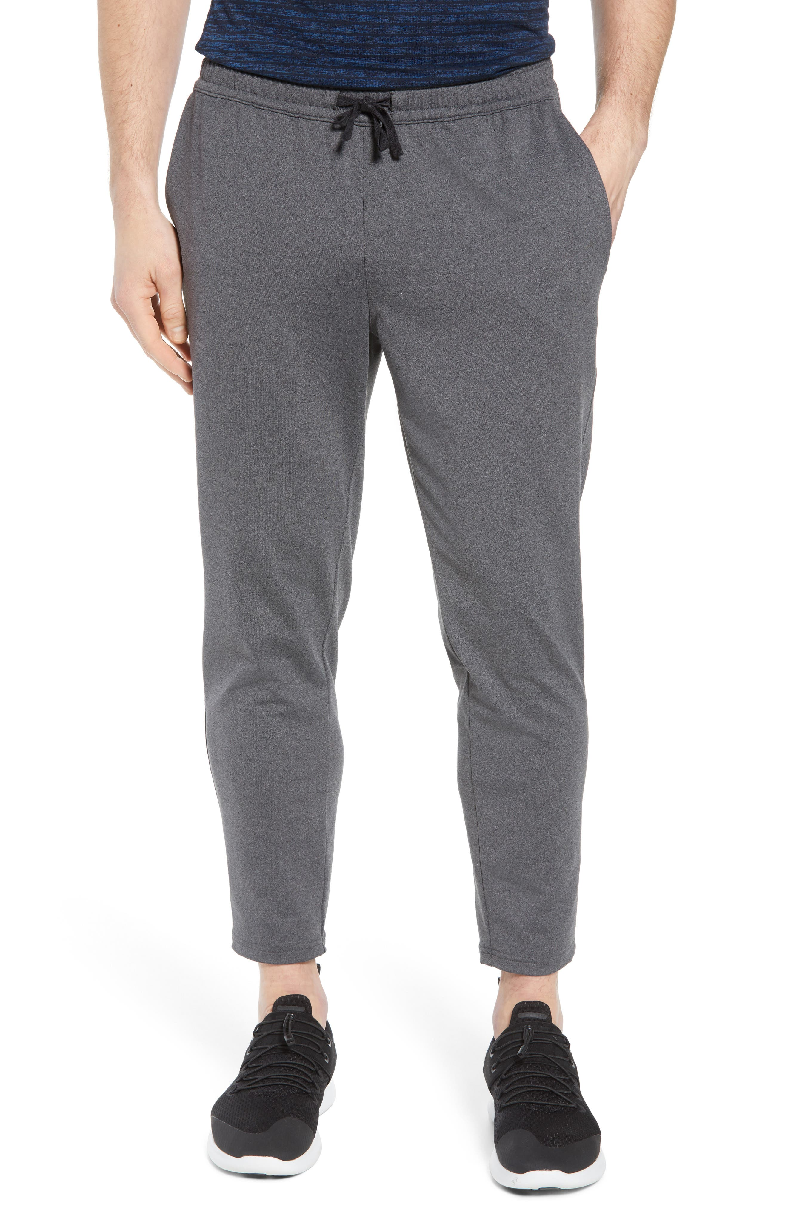Active Crop Jogger Pants,                         Main,                         color, Grey Obsidian Melange