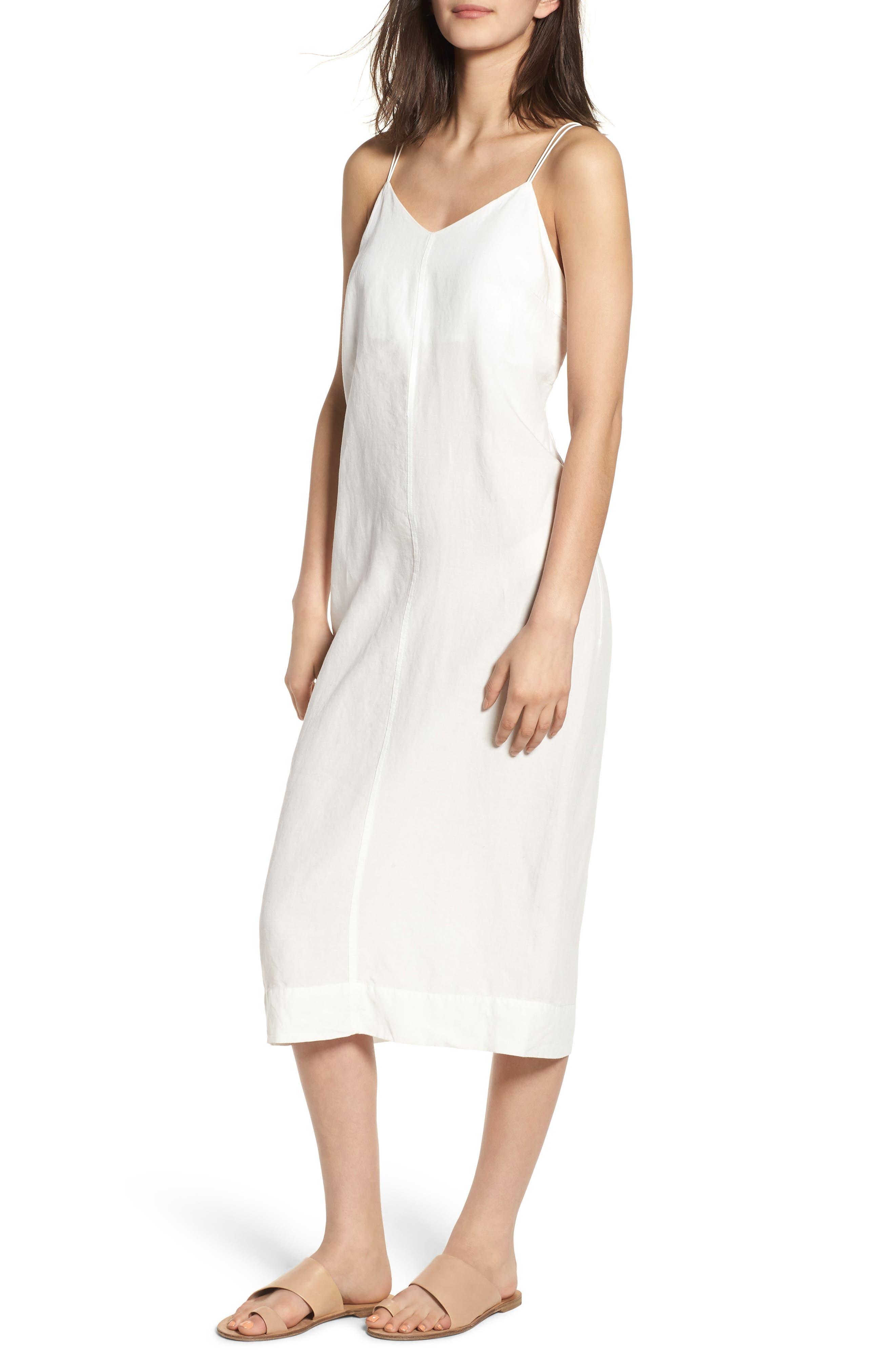 Bryant Midi Slipdress,                         Main,                         color, White