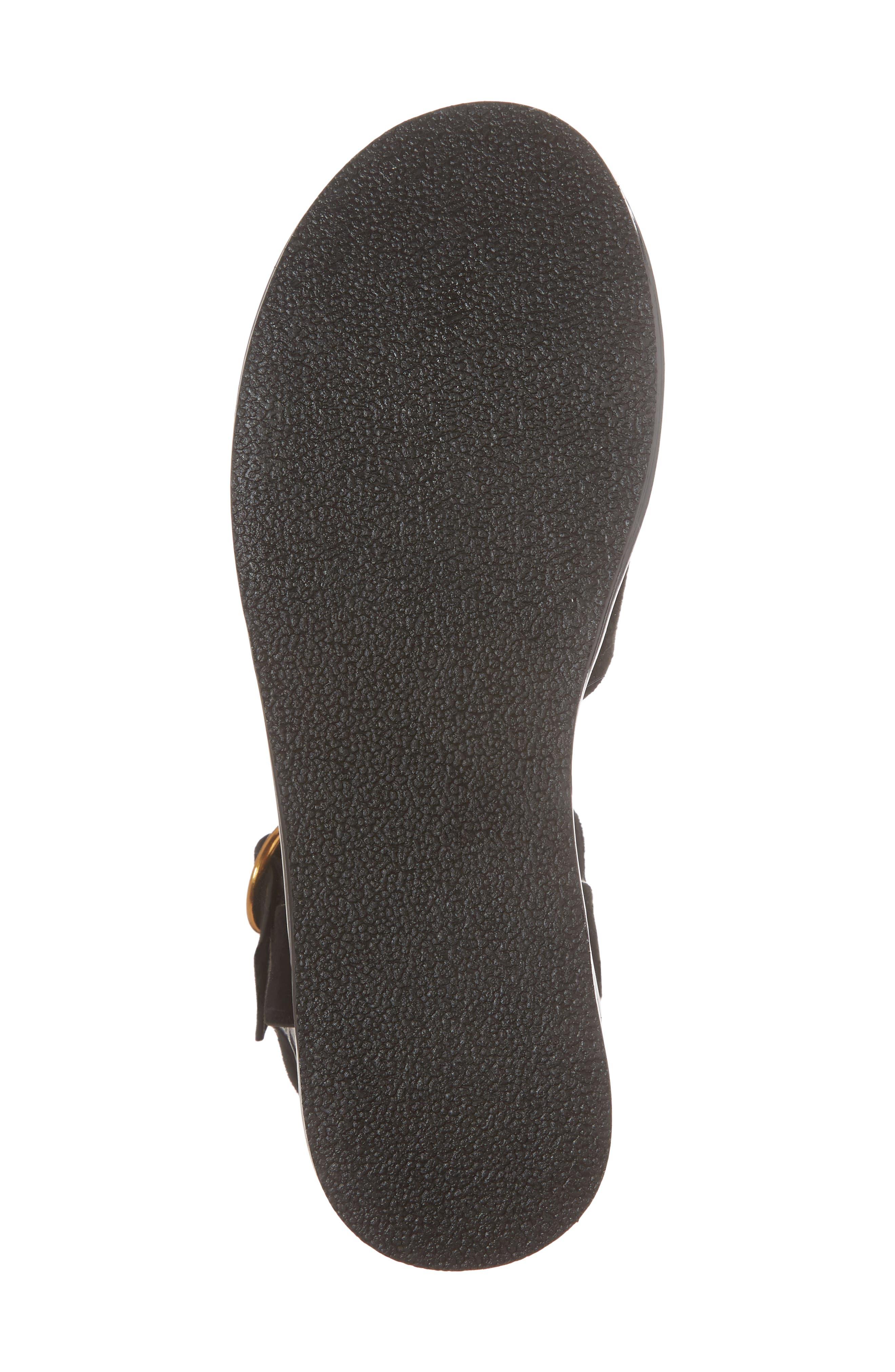 Wow Platform Wedge Sandal,                             Alternate thumbnail 6, color,                             Black